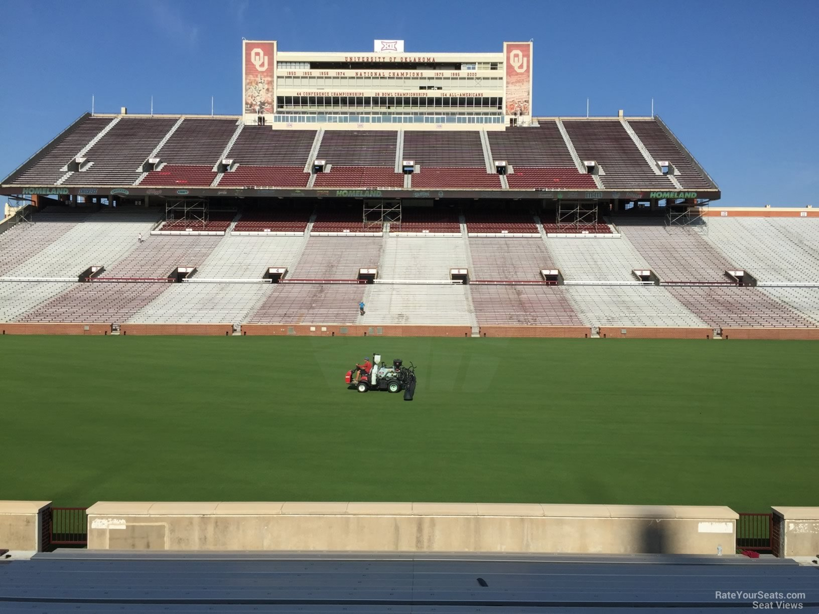 Seat View For Oklahoma Memorial Stadium Section 30