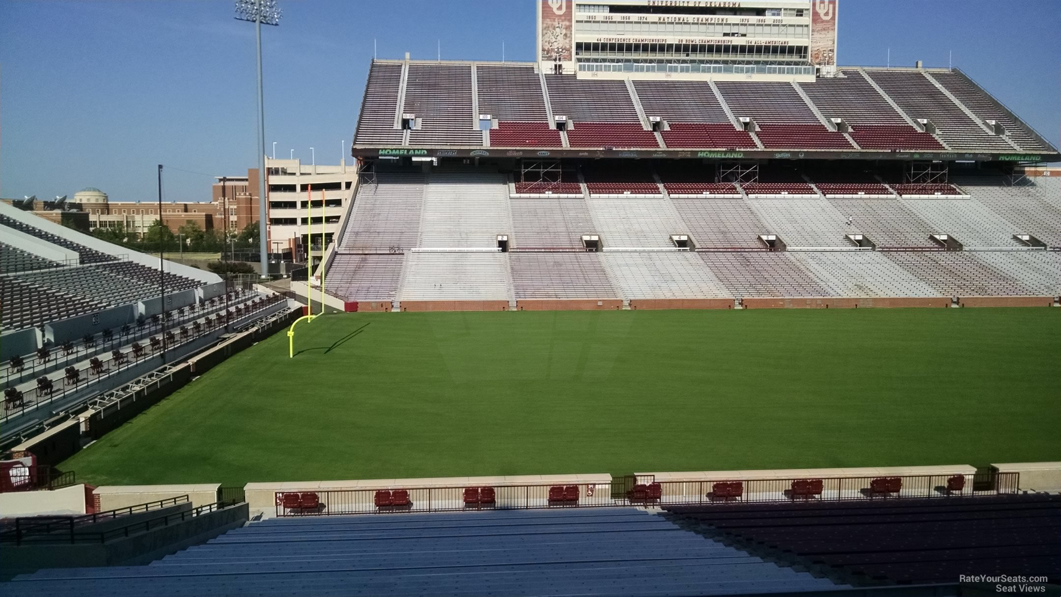 Oklahoma Memorial Stadium Section 34 Rateyourseats Com