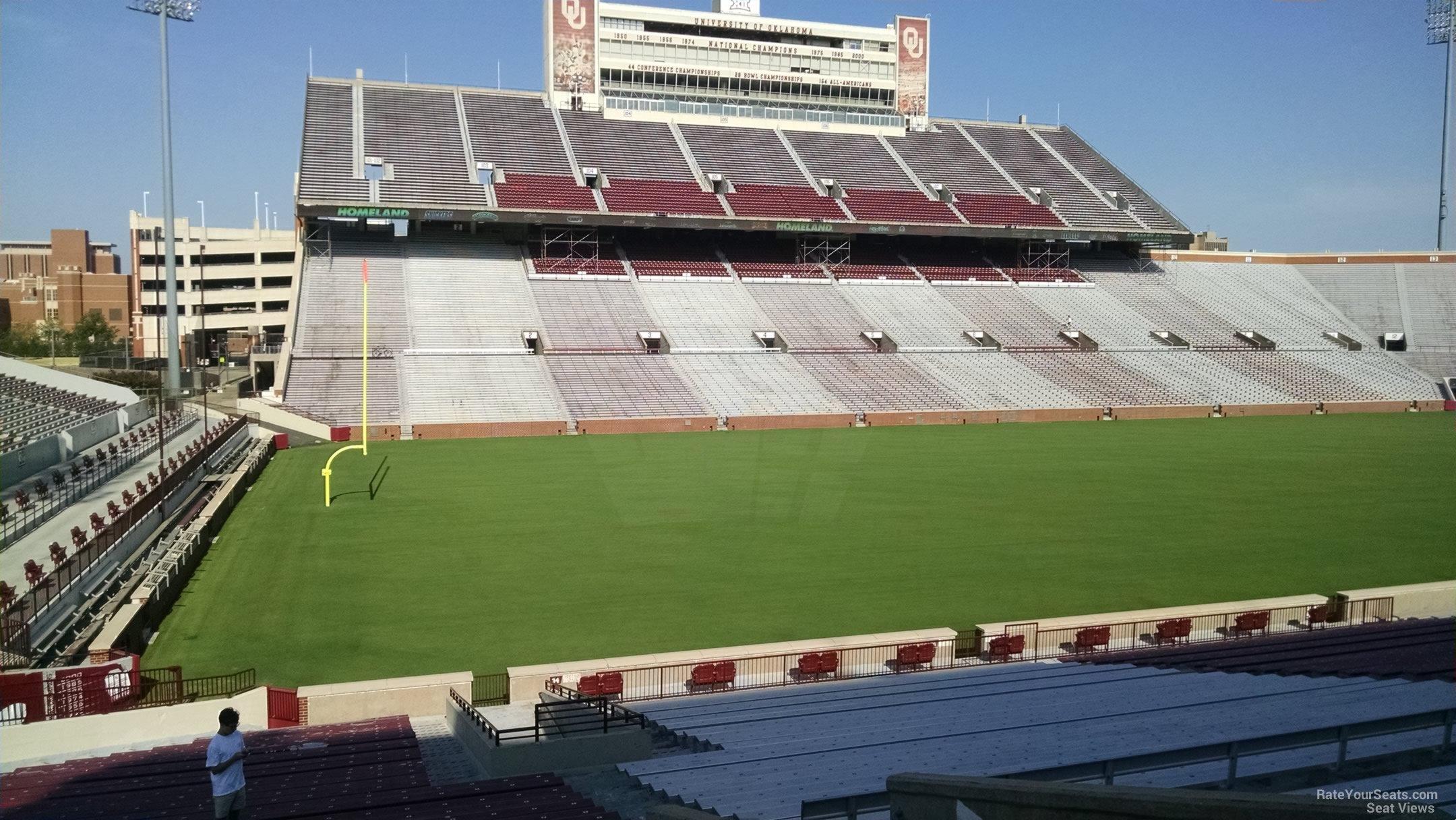 Oklahoma Memorial Stadium Section 35 Rateyourseats Com