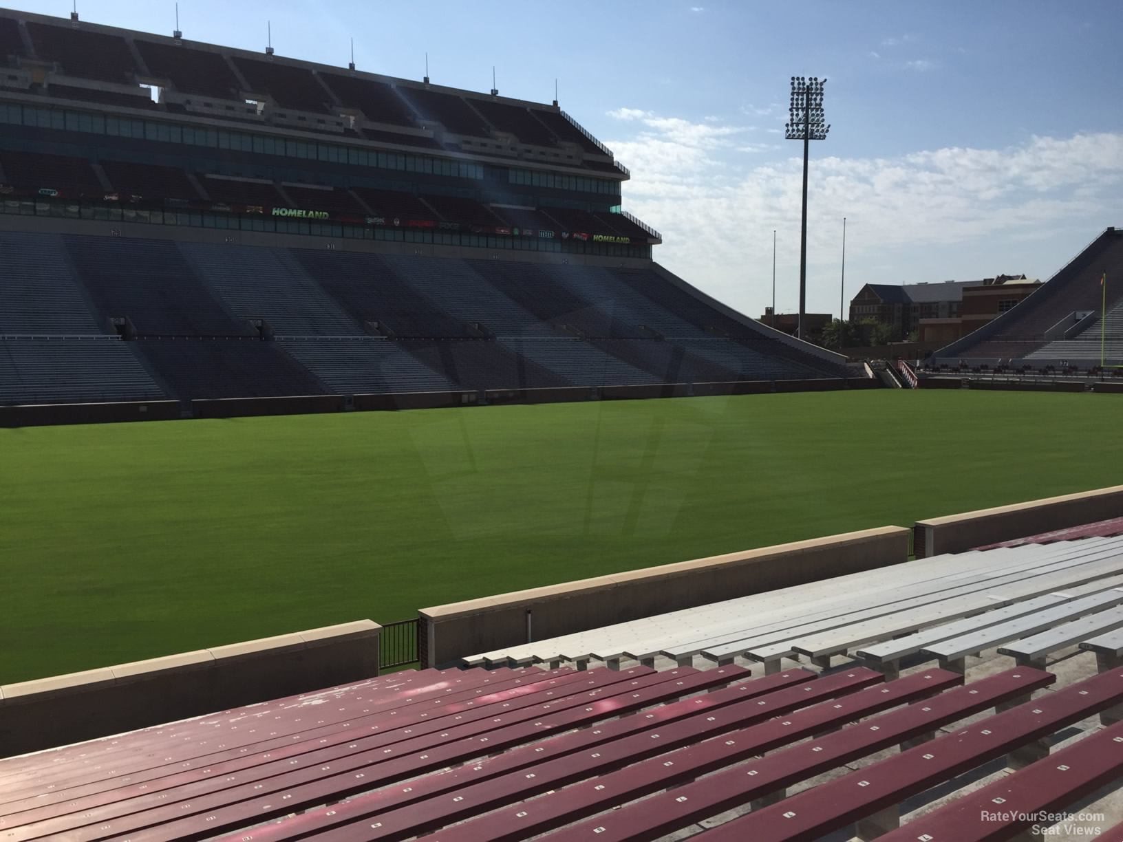 Seat View for Oklahoma Memorial Stadium Section 9, Row 20