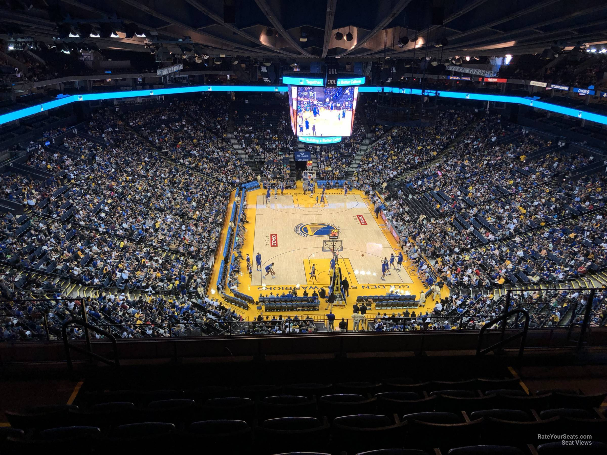 Seat View for Oracle Arena Section 209, Row 11