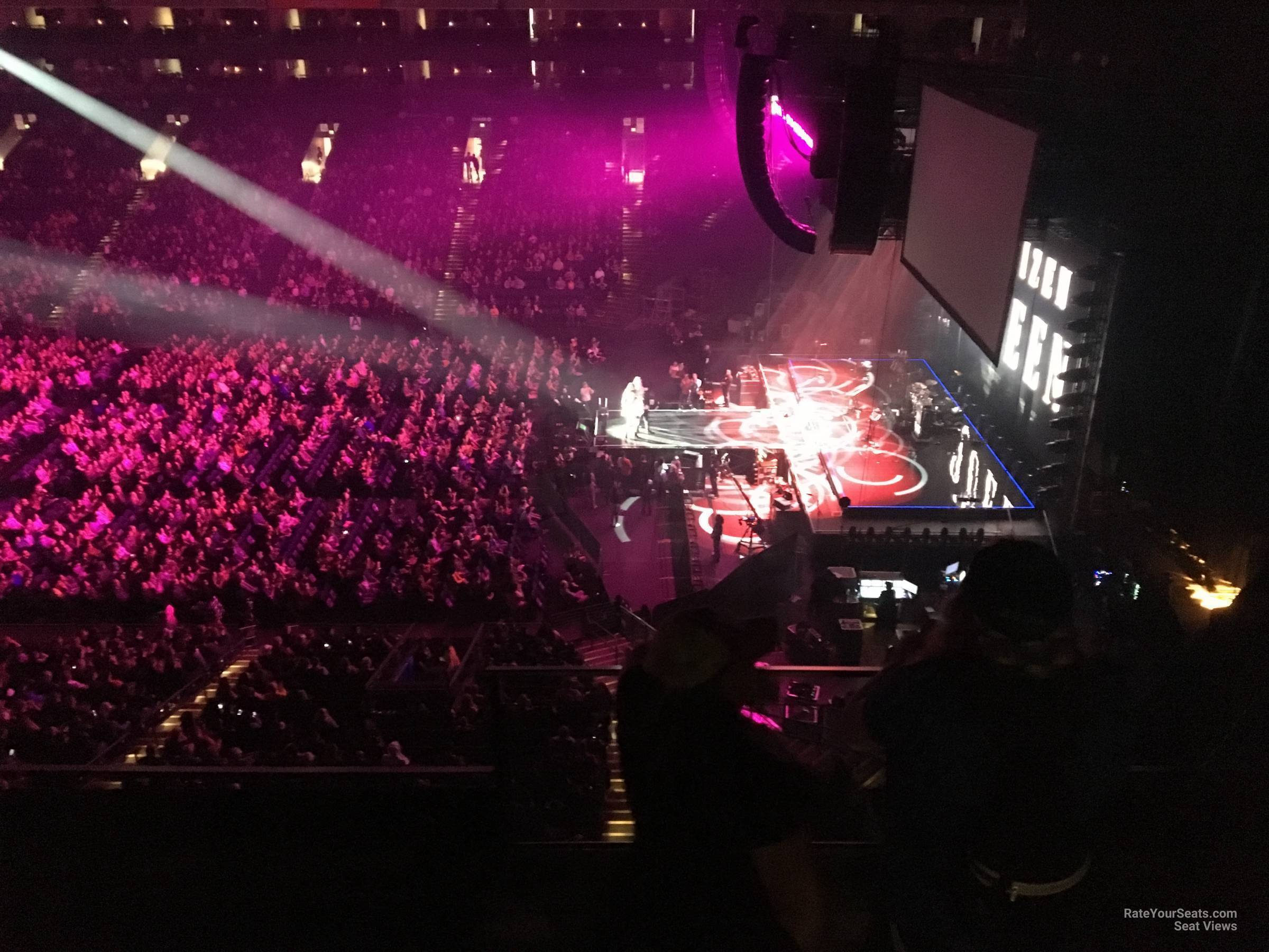 Concert Seat View for Oakland Arena Section 231, Row 3
