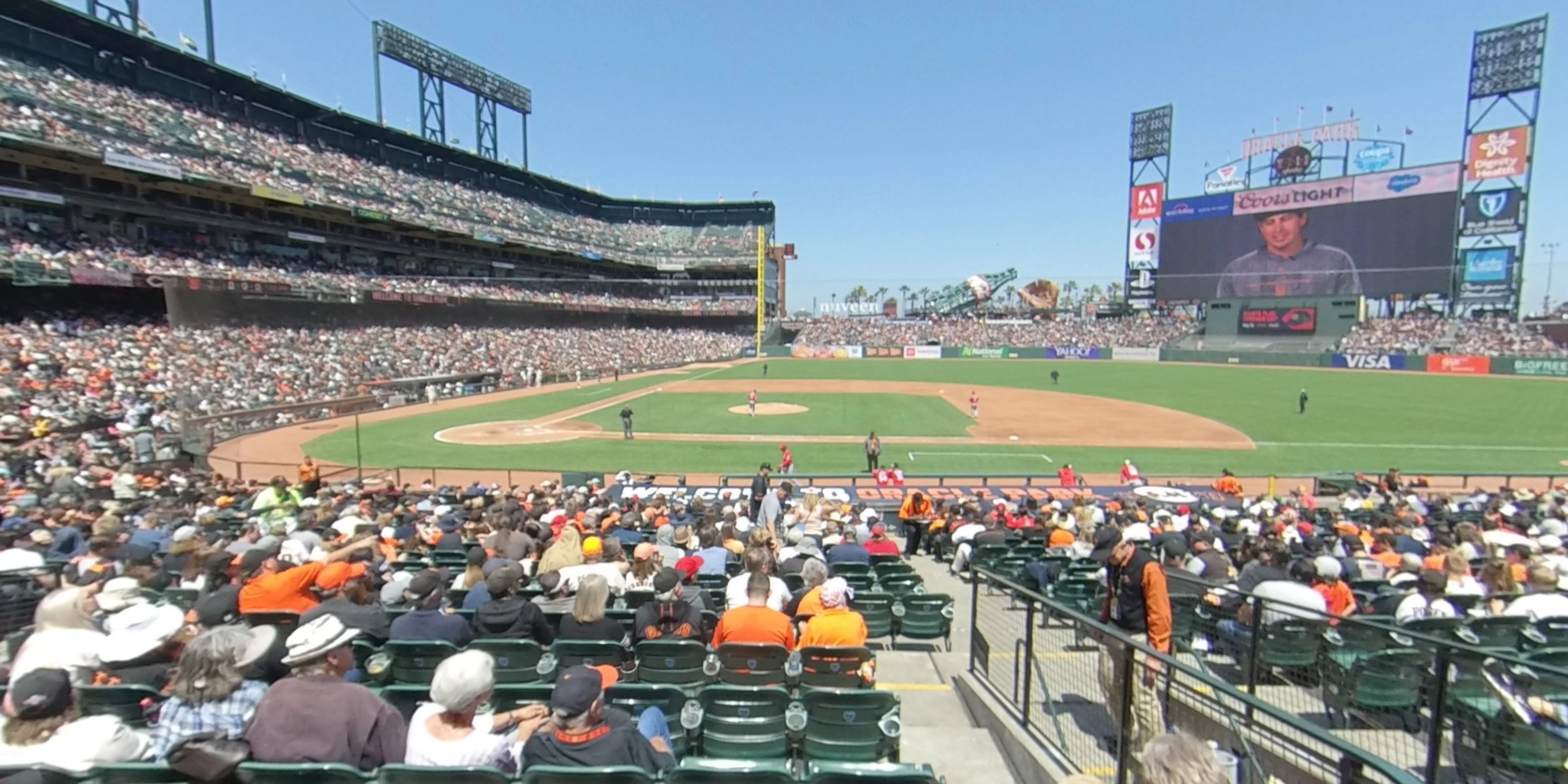 360° Photo From Oracle Park Section 109