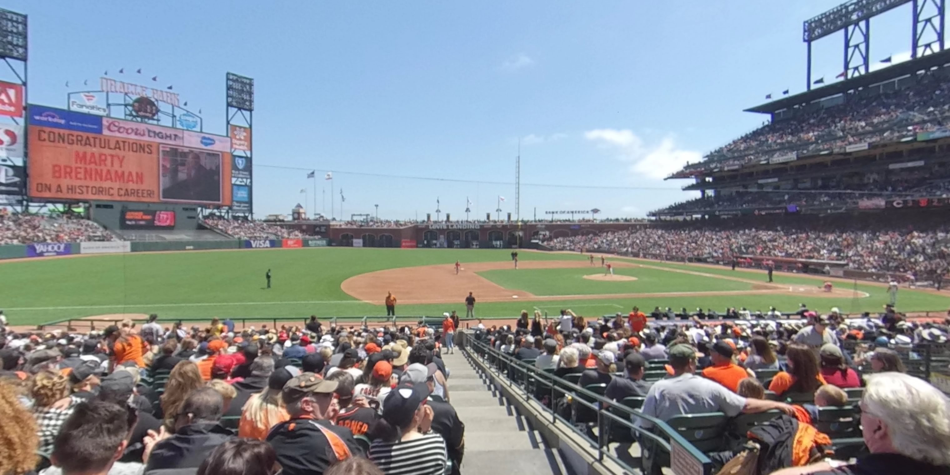 360° Photo From Oracle Park Section 125