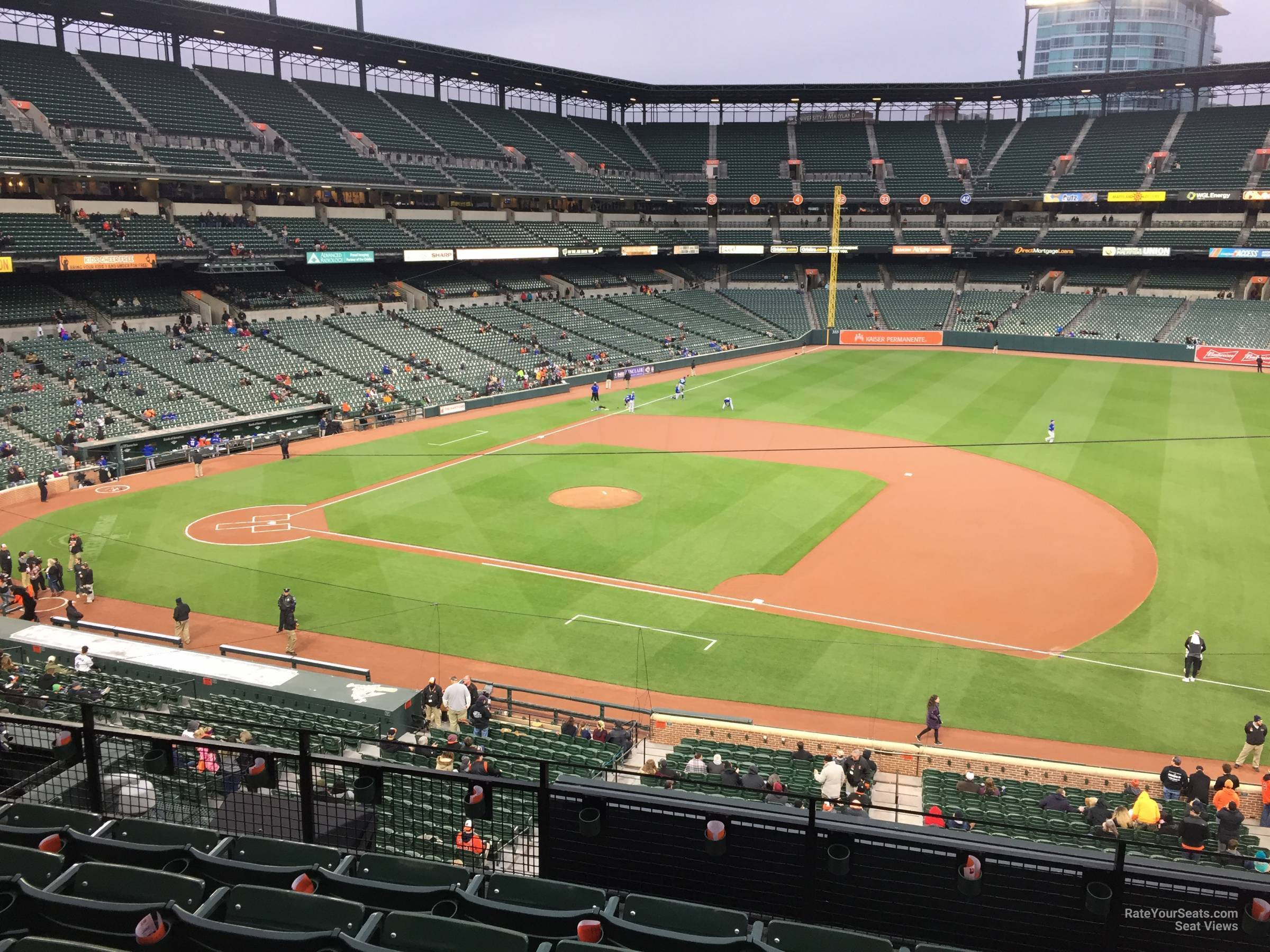 Seat View for Oriole Park Section 218, Row 5