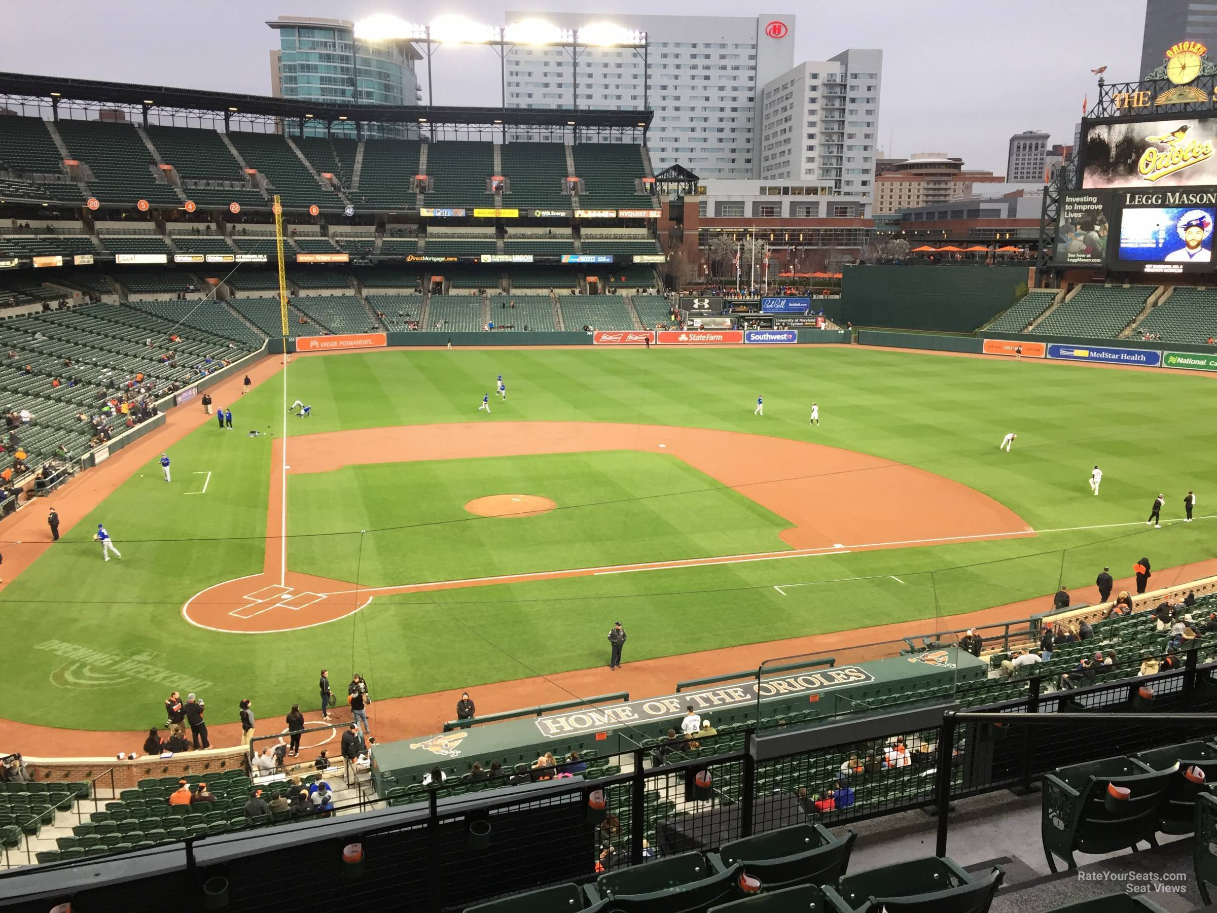 oriole park section 228 - rateyourseats