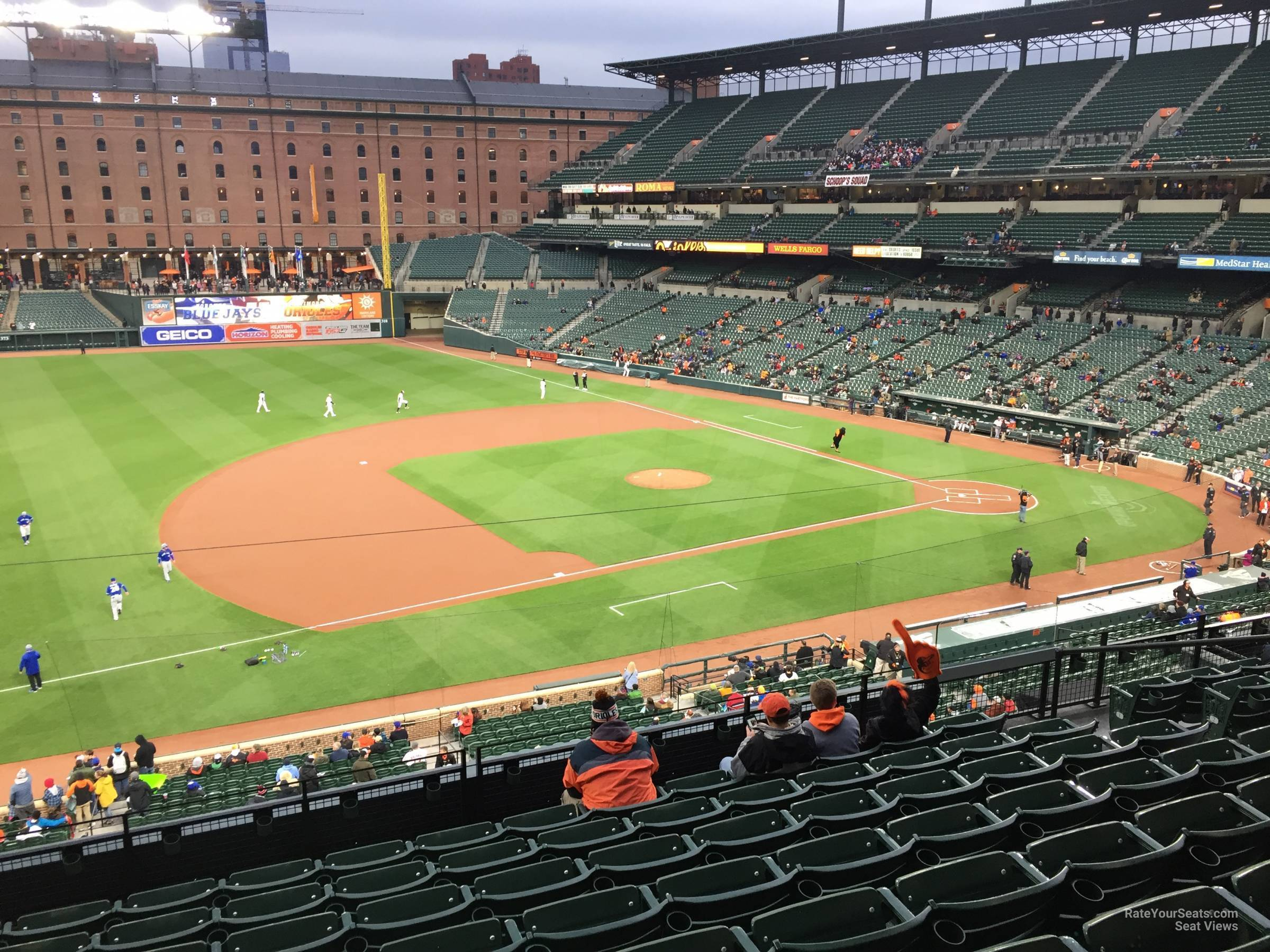 Seat View for Oriole Park Section 254, Row 5