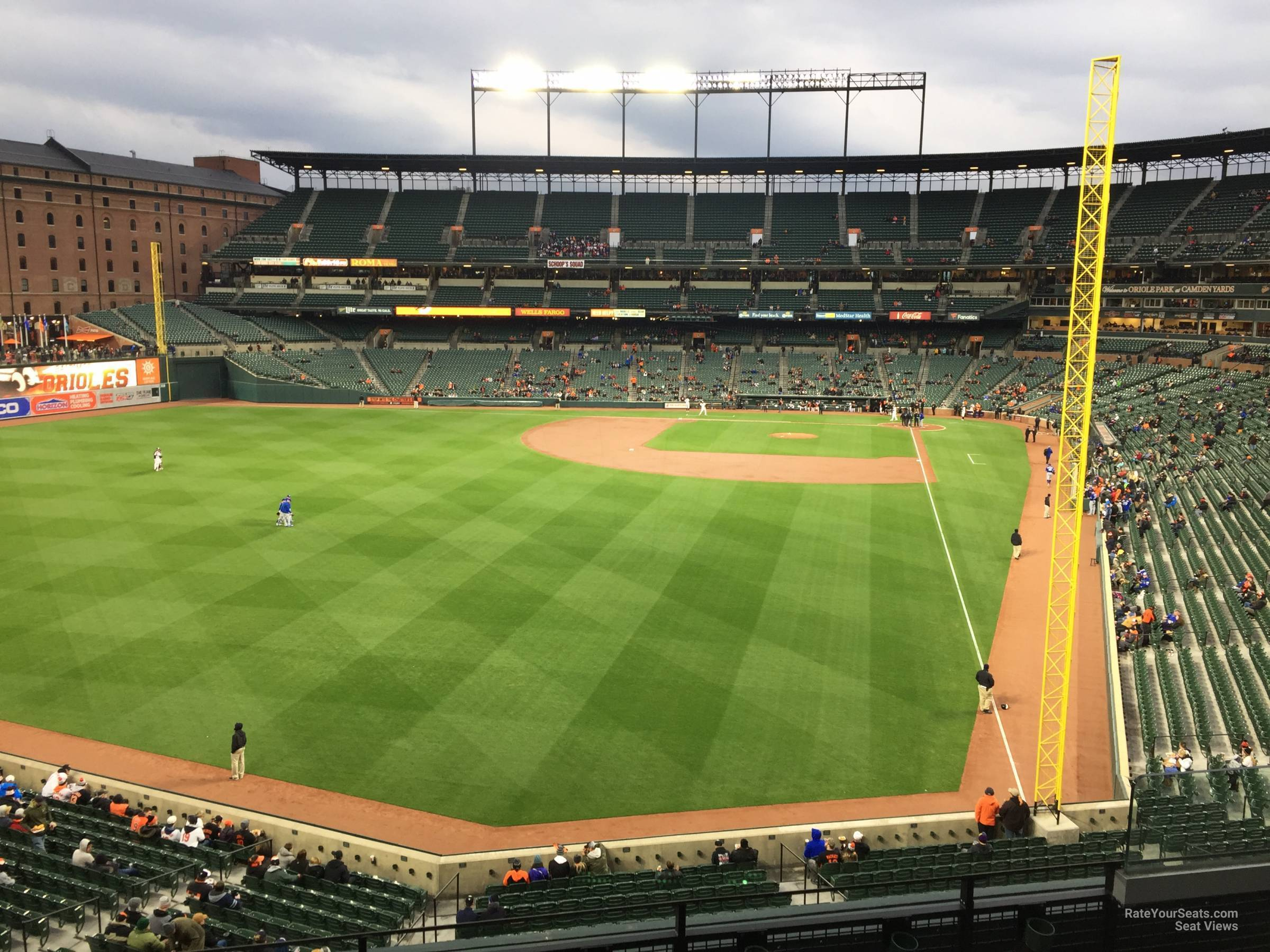 Seat View for Oriole Park Section 278, Row 3