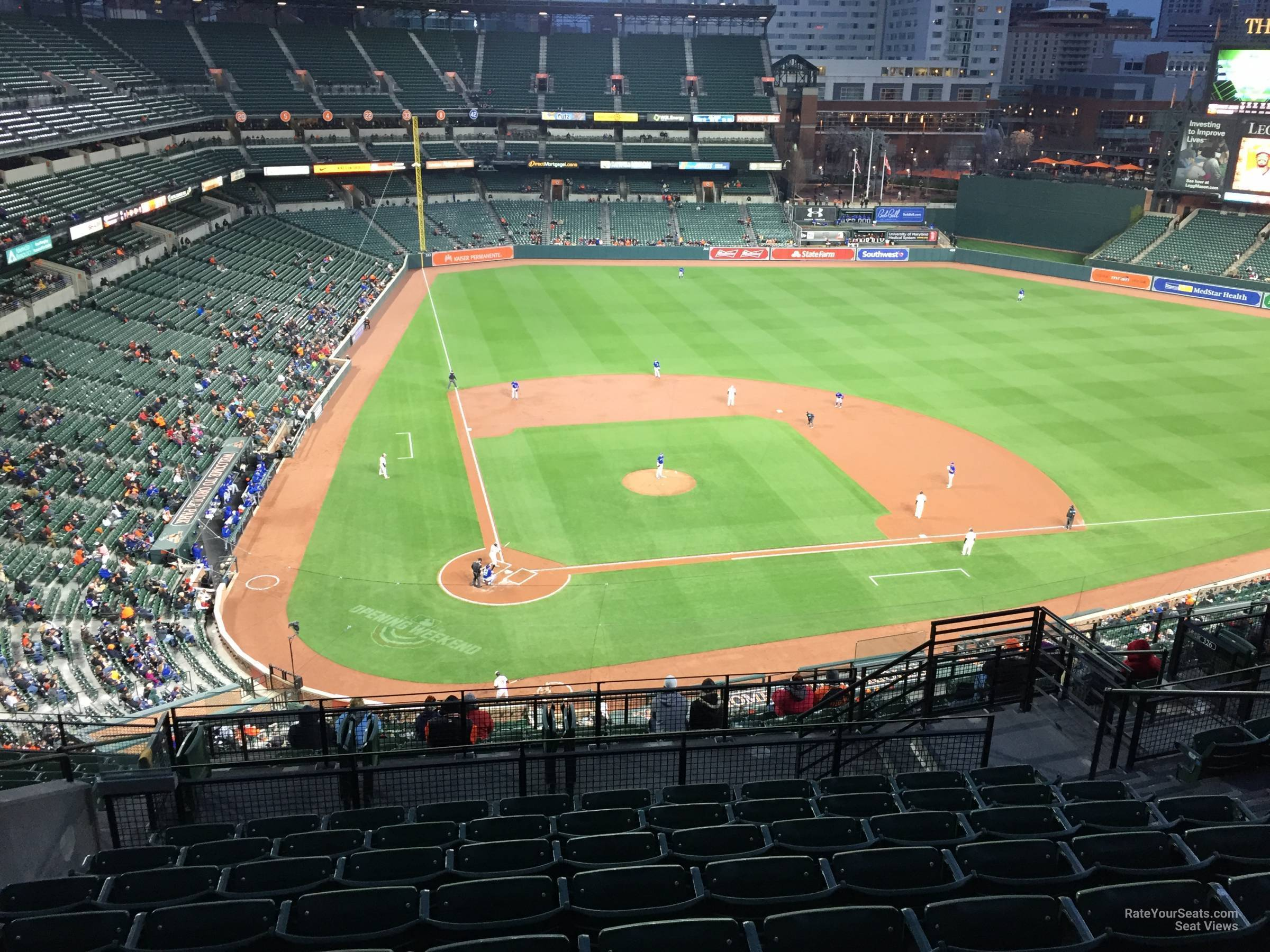 Seat View for Oriole Park Section 328, Row 15