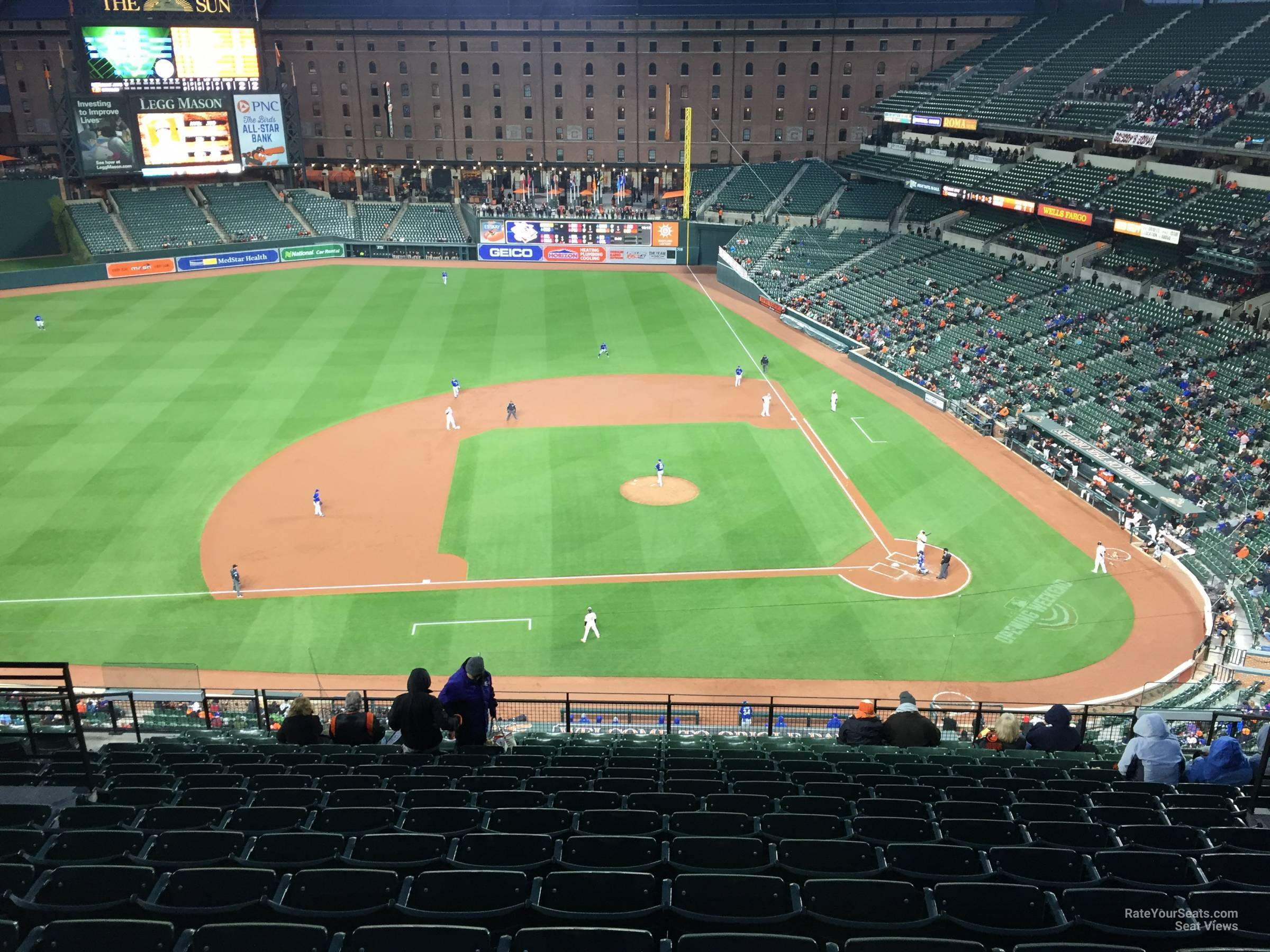 Seat View for Oriole Park Section 352, Row 15