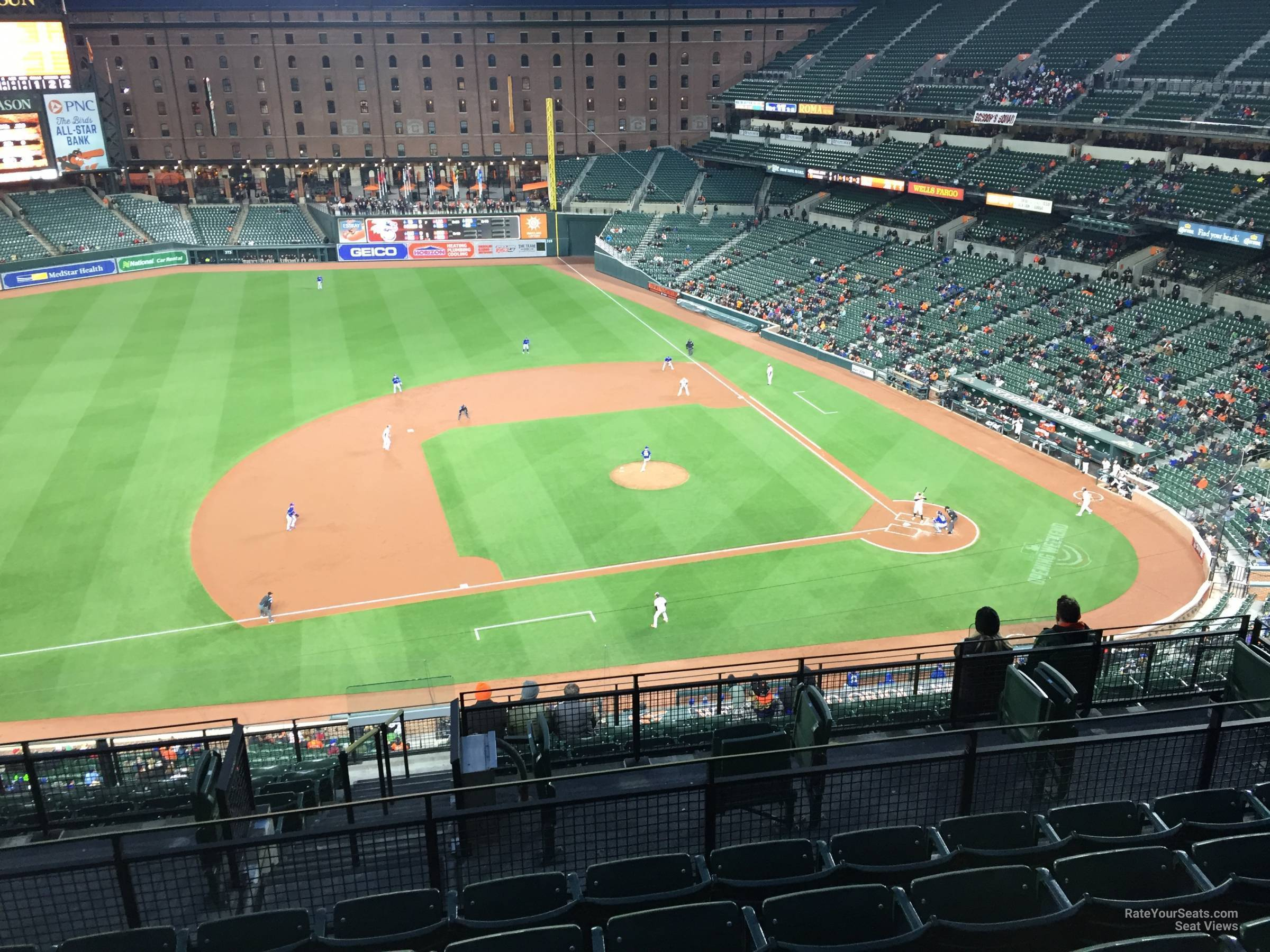 Seat View for Oriole Park Section 354, Row 15