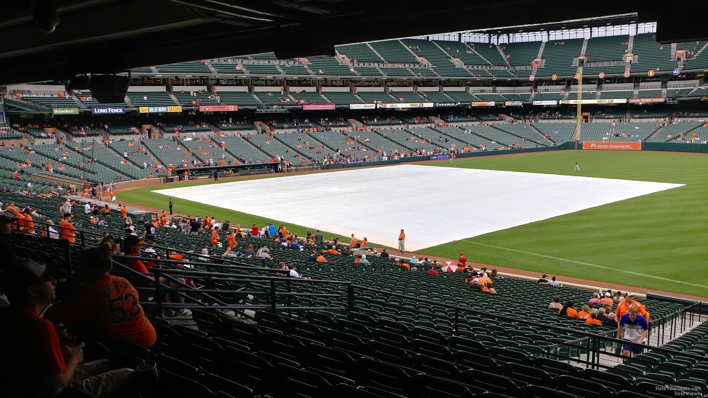 Seat View for Oriole Park Section 11, Row 7