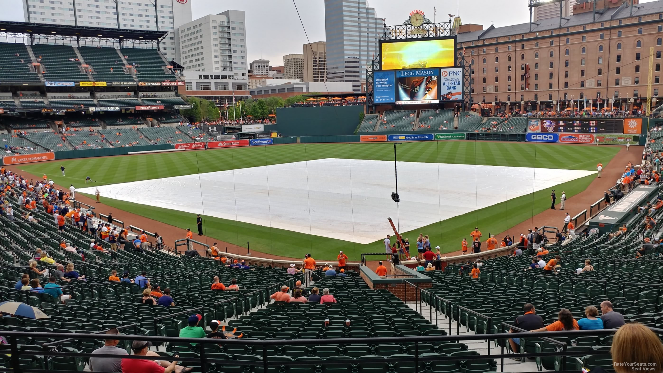 Seat View for Oriole Park Section 37, Row 6
