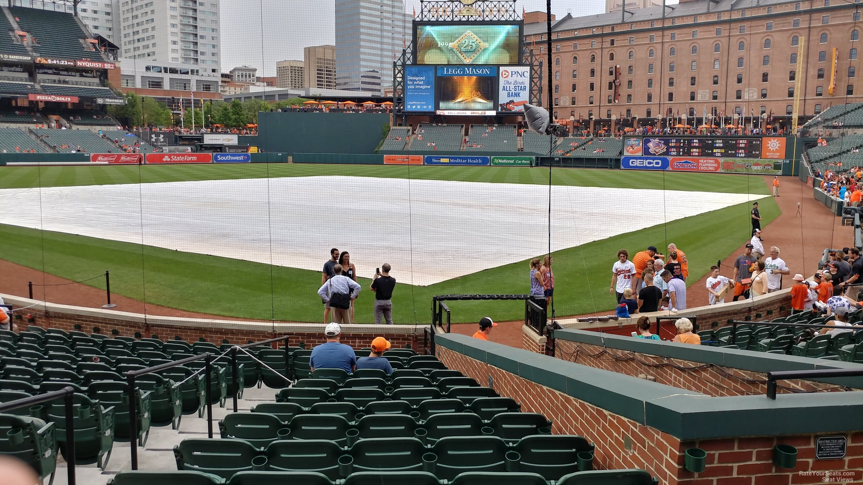 Seat View for Oriole Park Section 38, Row 15