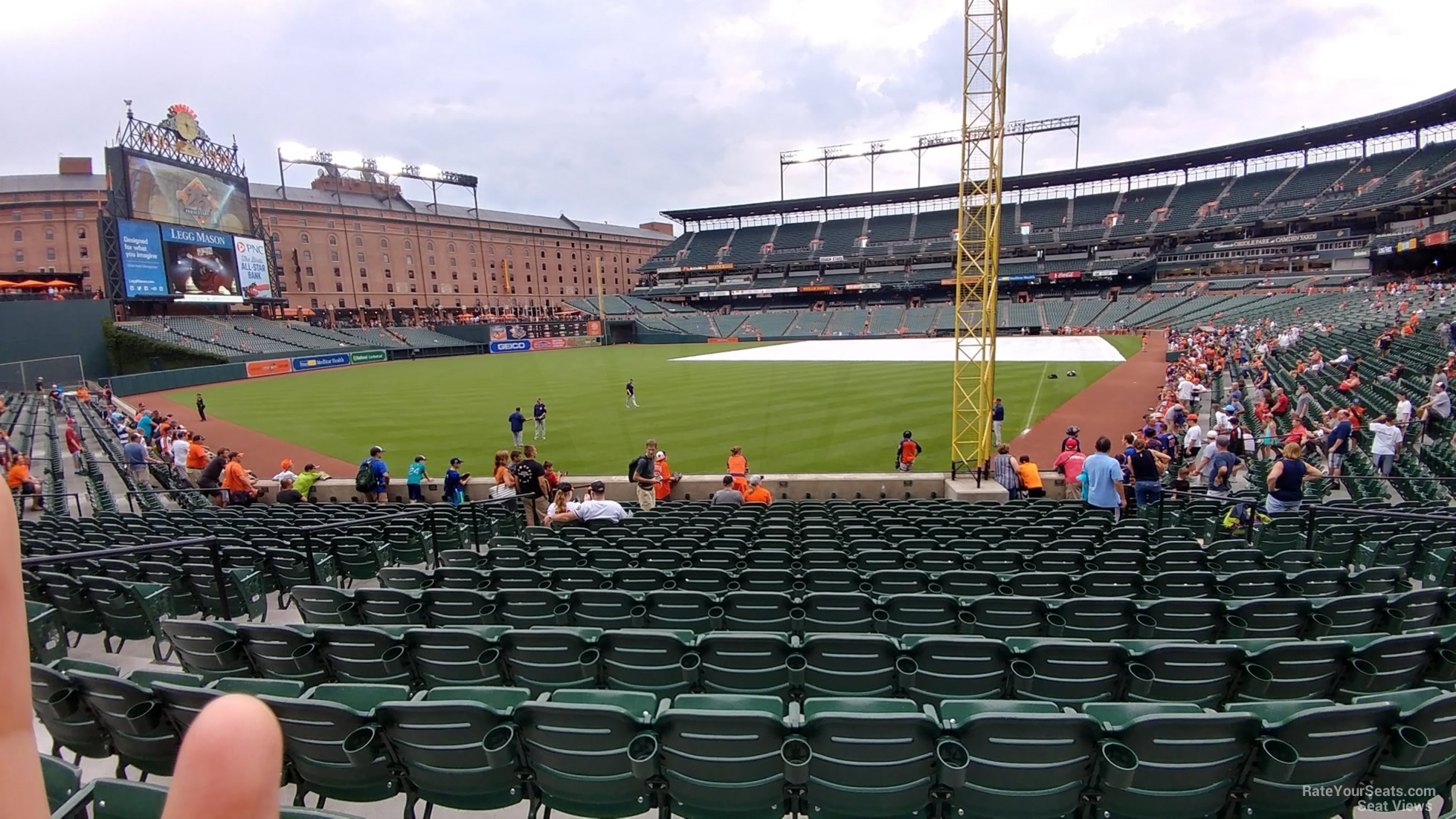 Seat View for Oriole Park Section 74, Row 15