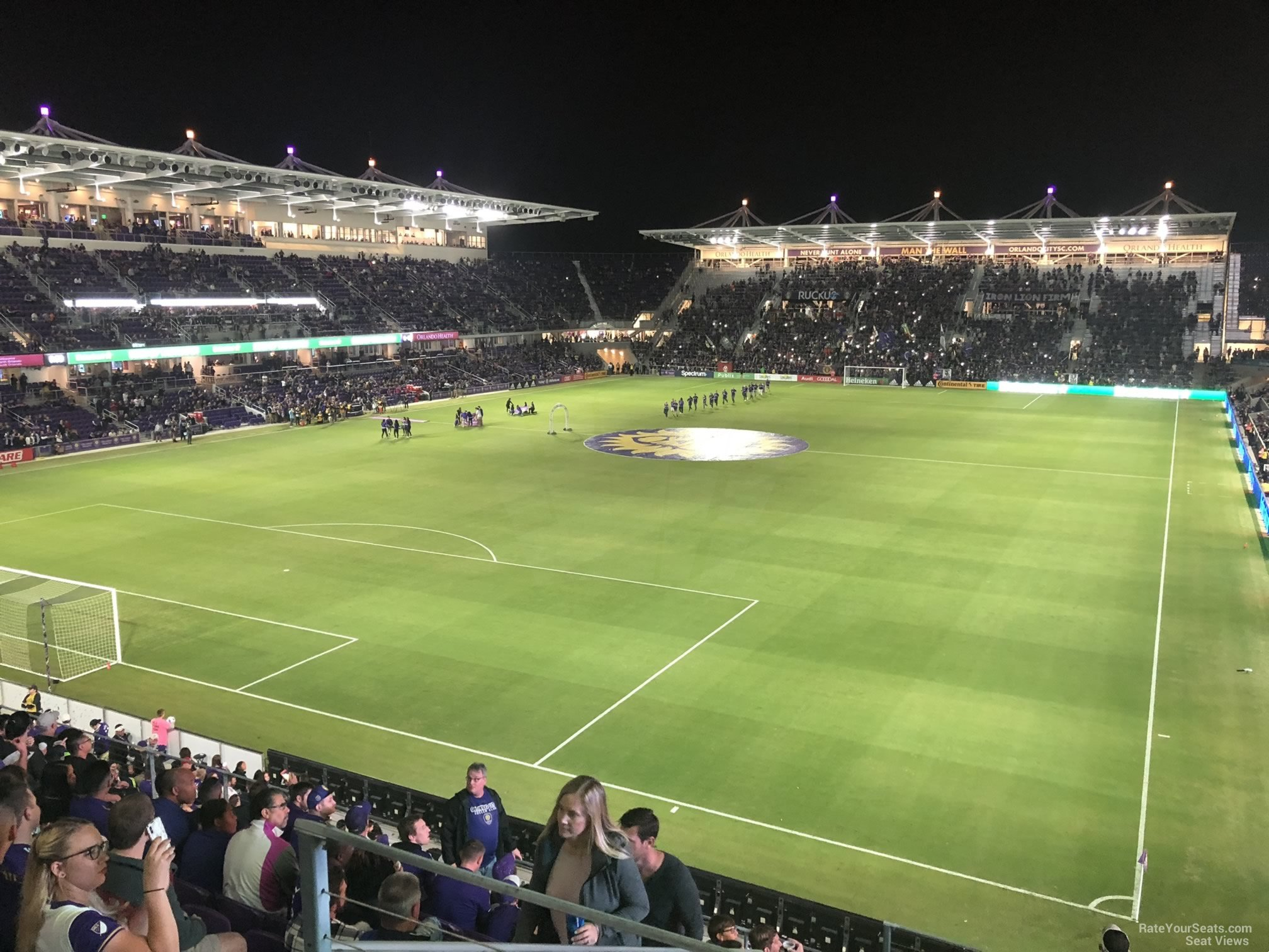 Soccer Seat View for Exploria Stadium Section 102, Row K