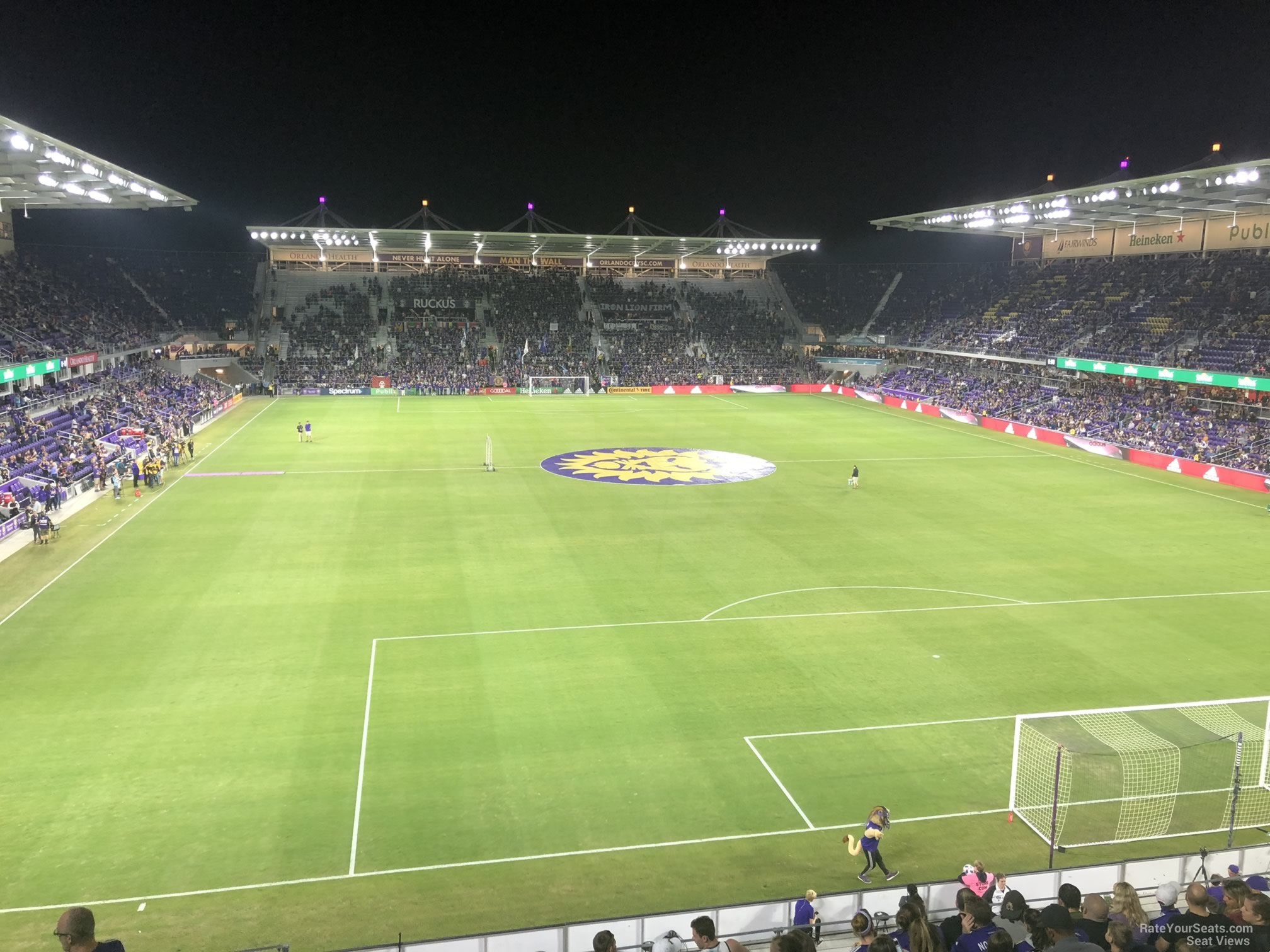 Soccer Seat View for Exploria Stadium Section 107