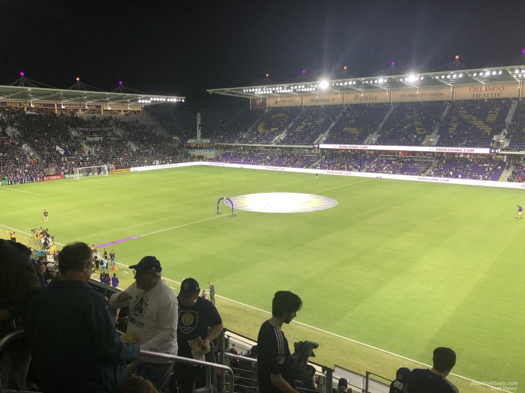 Soccer Seat View for Exploria Stadium Section 111, Row K