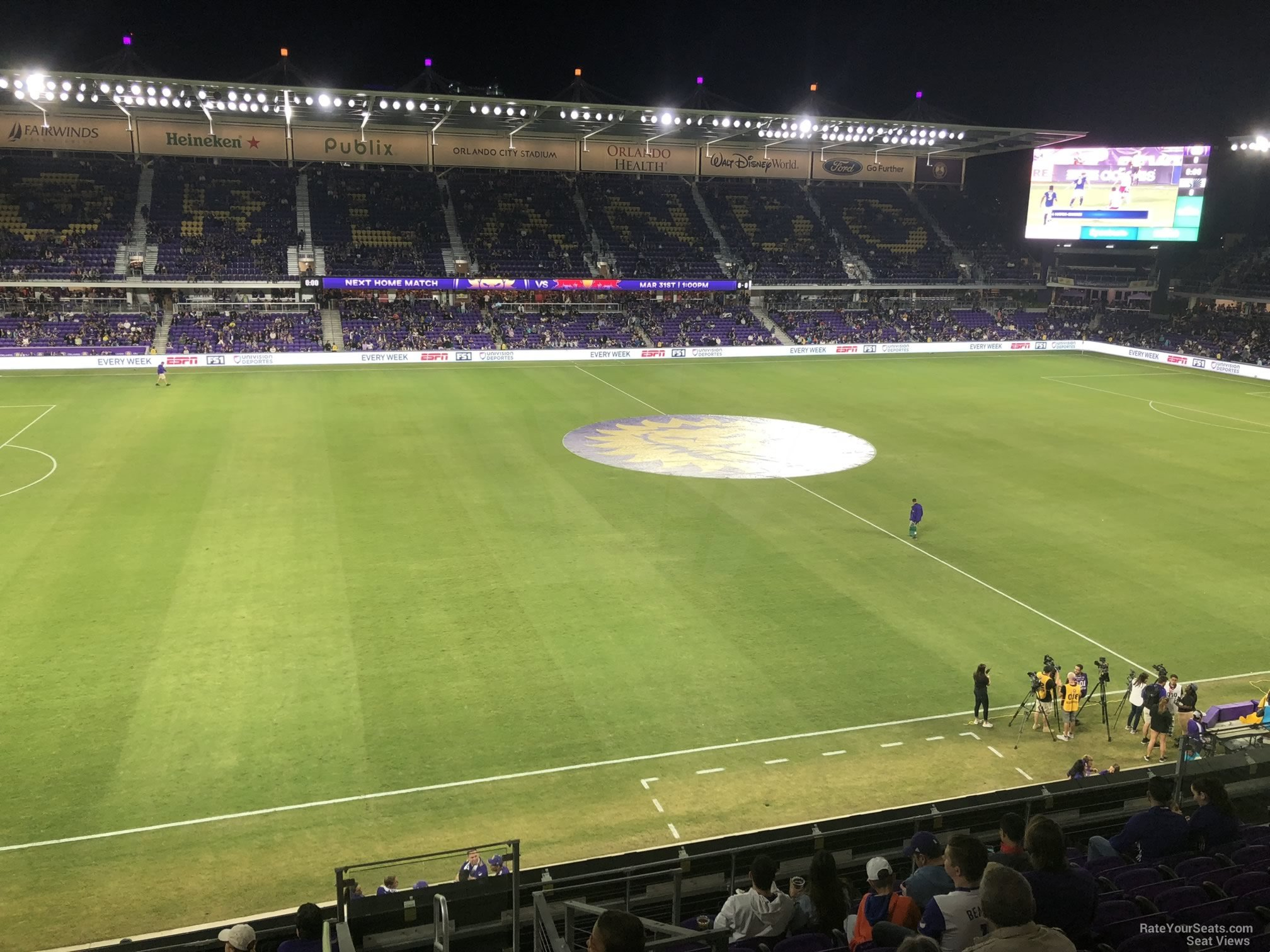 Soccer Seat View for Exploria Stadium Section 117, Row K