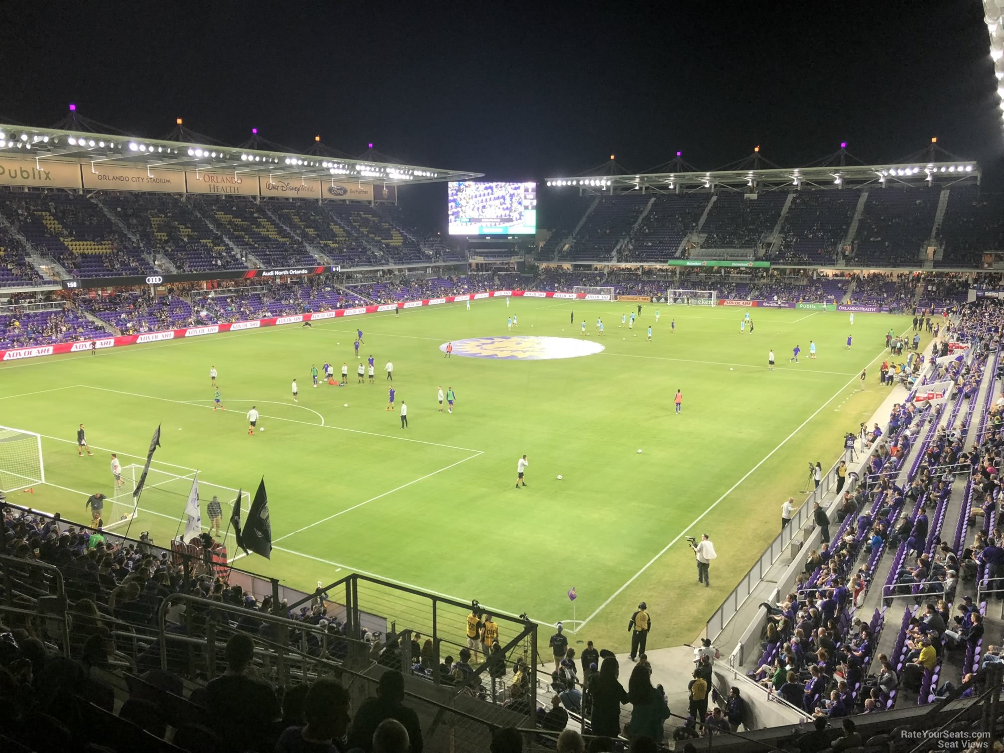 Soccer Seat View for Exploria Stadium Section 122, Row K