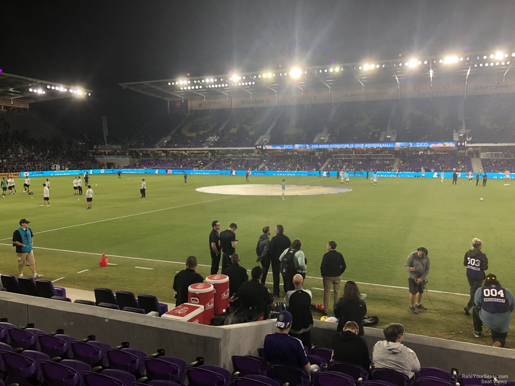 Soccer Seat View for Exploria Stadium Section 13, Row J