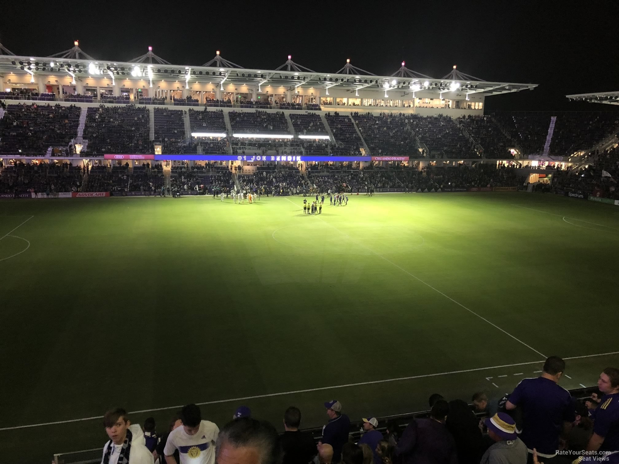 Soccer Seat View for Exploria Stadium Section 135, Row K
