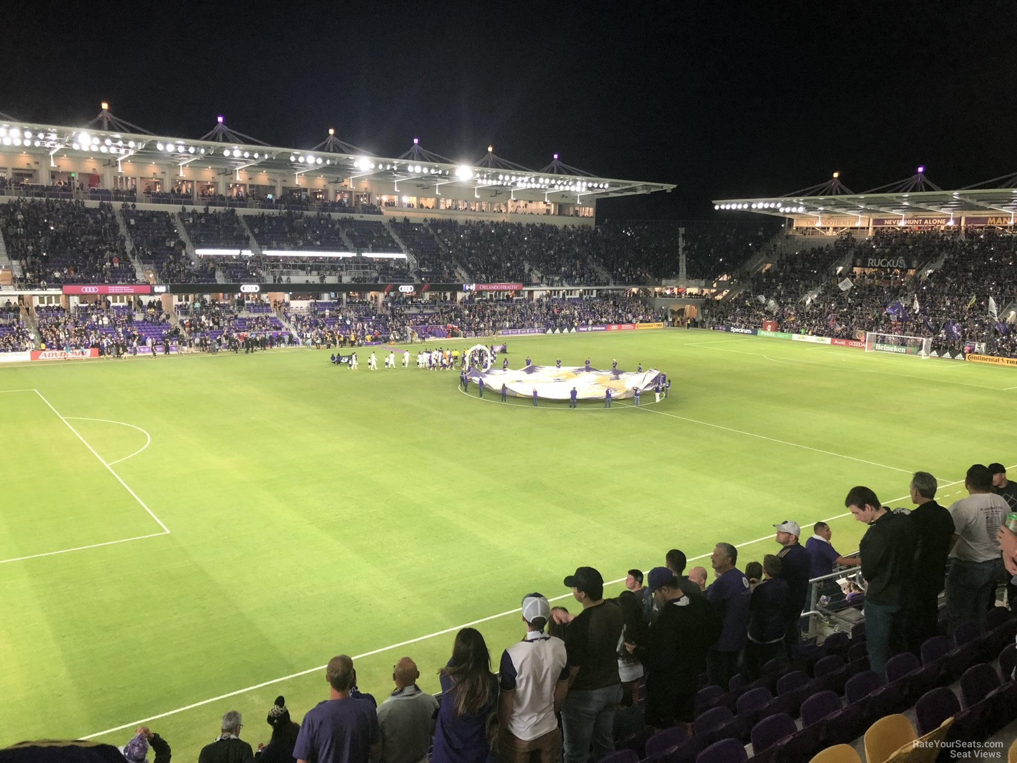 Soccer Seat View for Exploria Stadium Section 137, Row K
