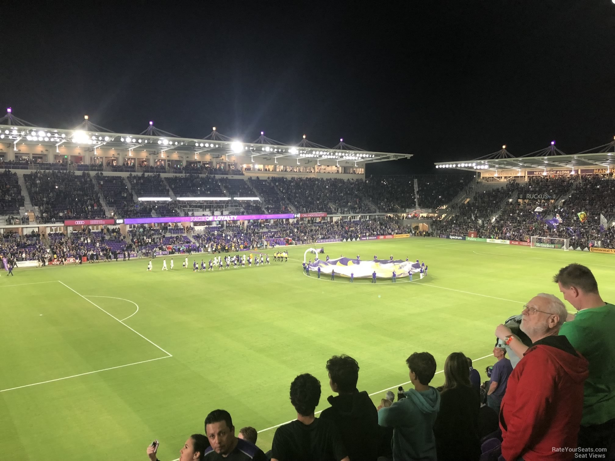 Soccer Seat View for Exploria Stadium Section 138, Row K