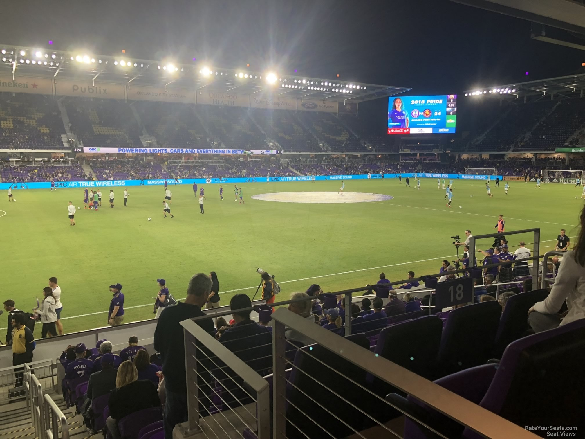 Soccer Seat View for Exploria Stadium Section 18, Row J