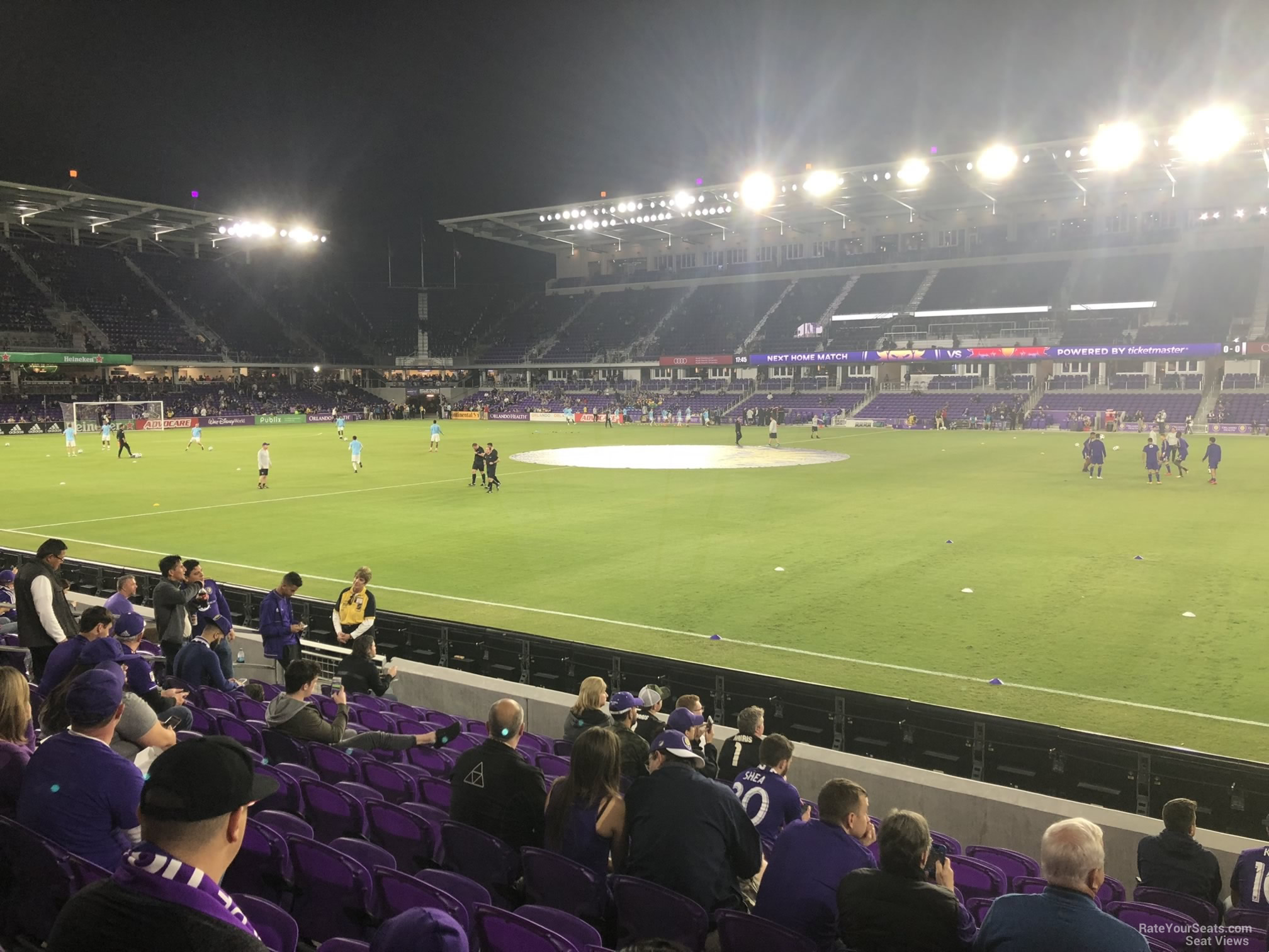 Soccer Seat View for Exploria Stadium Section 32, Row N