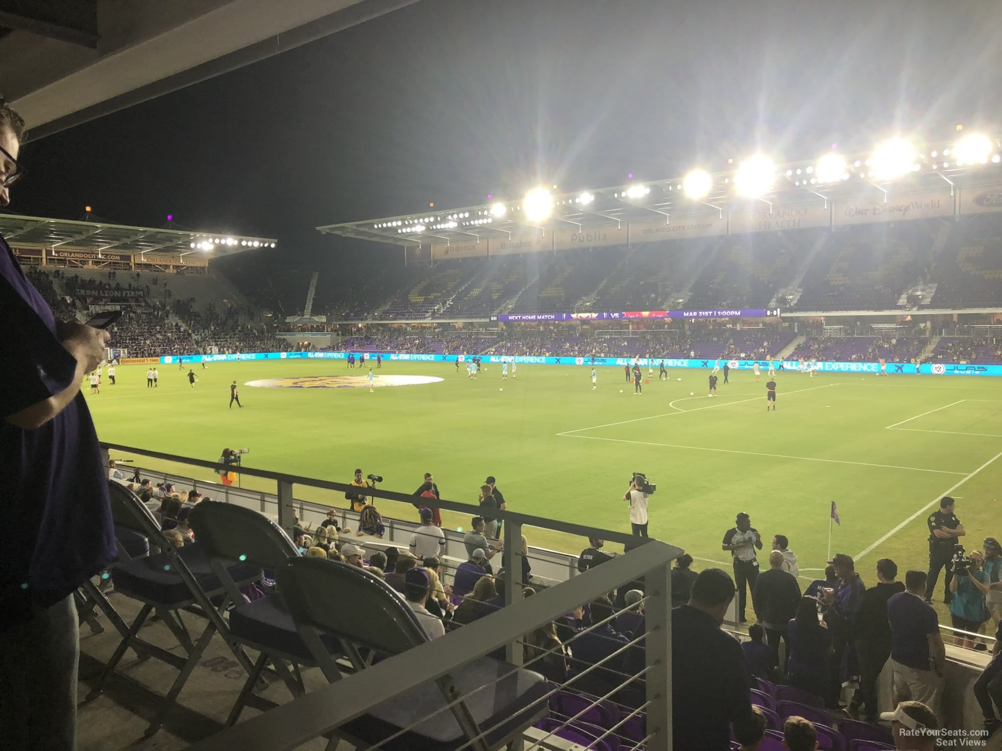 Soccer Seat View for Exploria Stadium Section 9