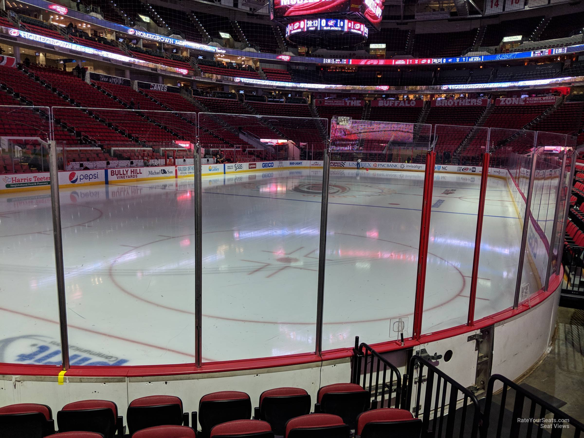 Carolina Hurricanes Seat View for PNC Arena Section 125, Row F