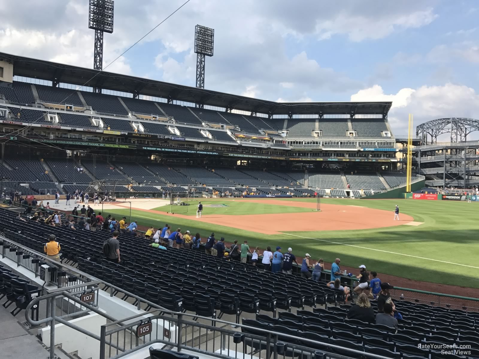 Seat View for PNC Park Section 105, Row F