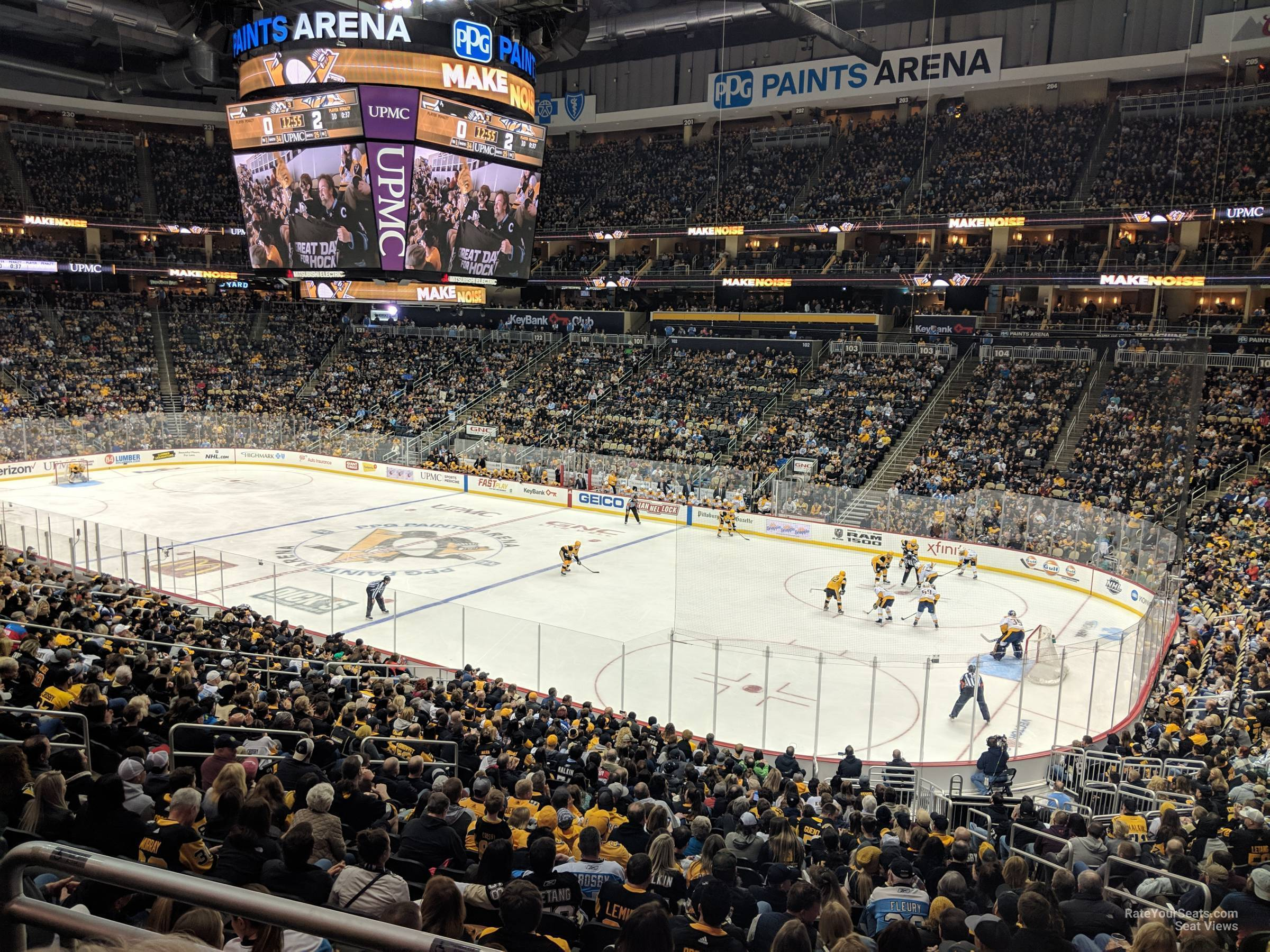 Ppg Paints Arena Section 110 Pittsburgh Penguins