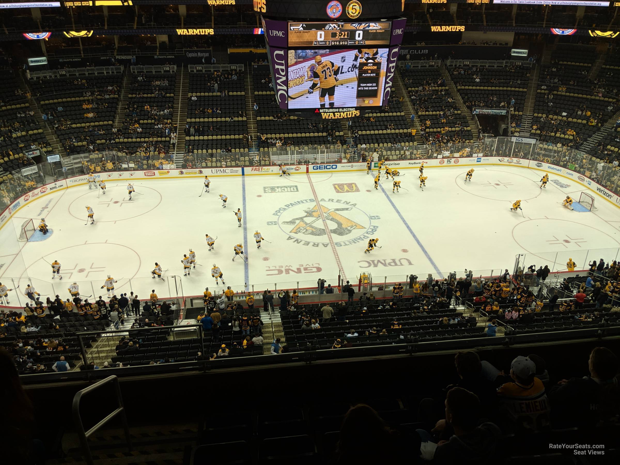PPG Paints Arena Section 203 - Pittsburgh Penguins ...