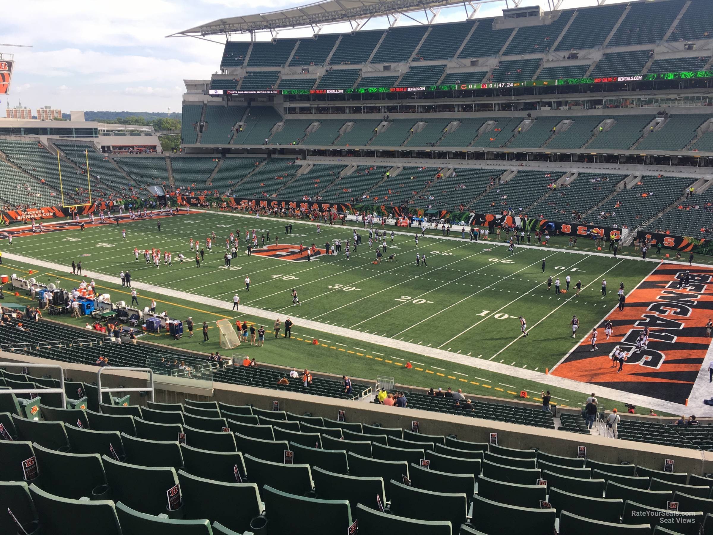 paul brown stadium section 234 rateyourseats com