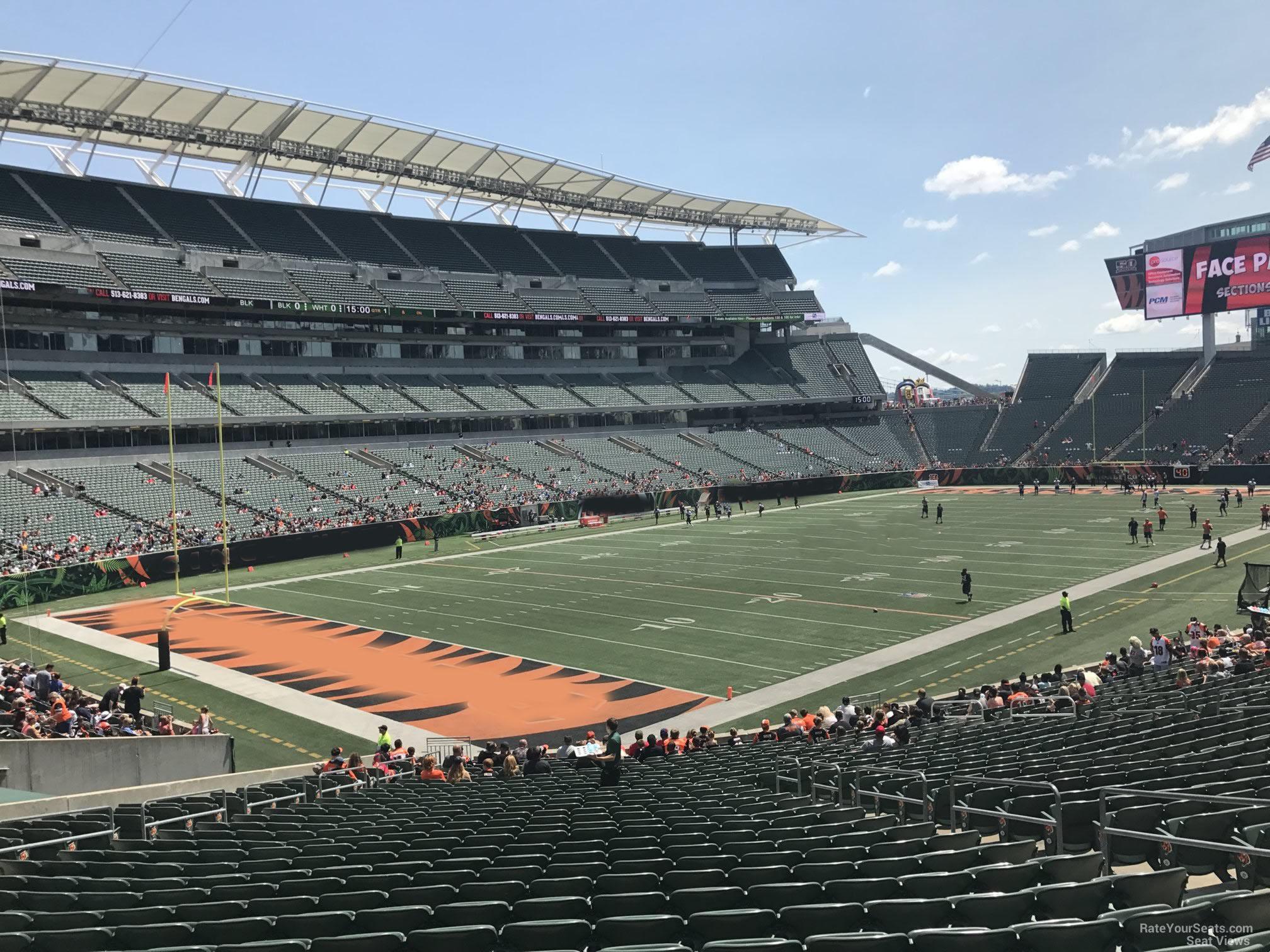 Paul Brown Stadium Section 119 Rateyourseats Com