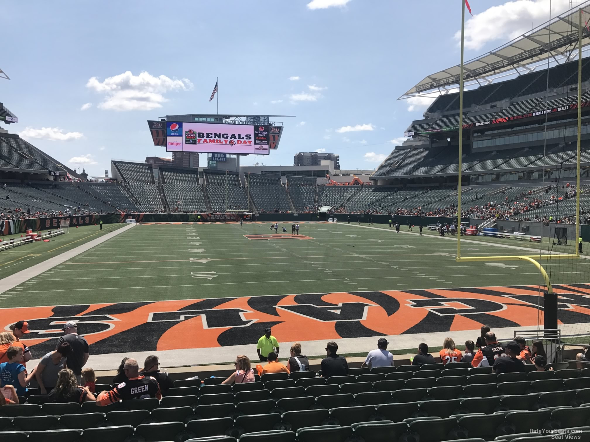 paul brown stadium section 128 rateyourseats com