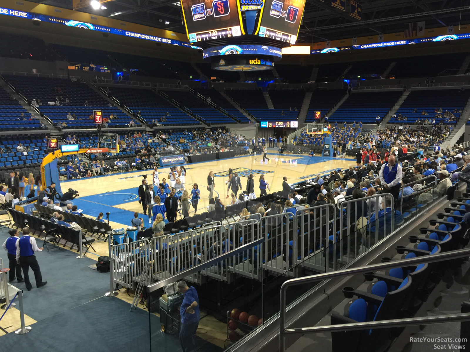 Seat View for Pauley Pavilion Section 105, Row 3