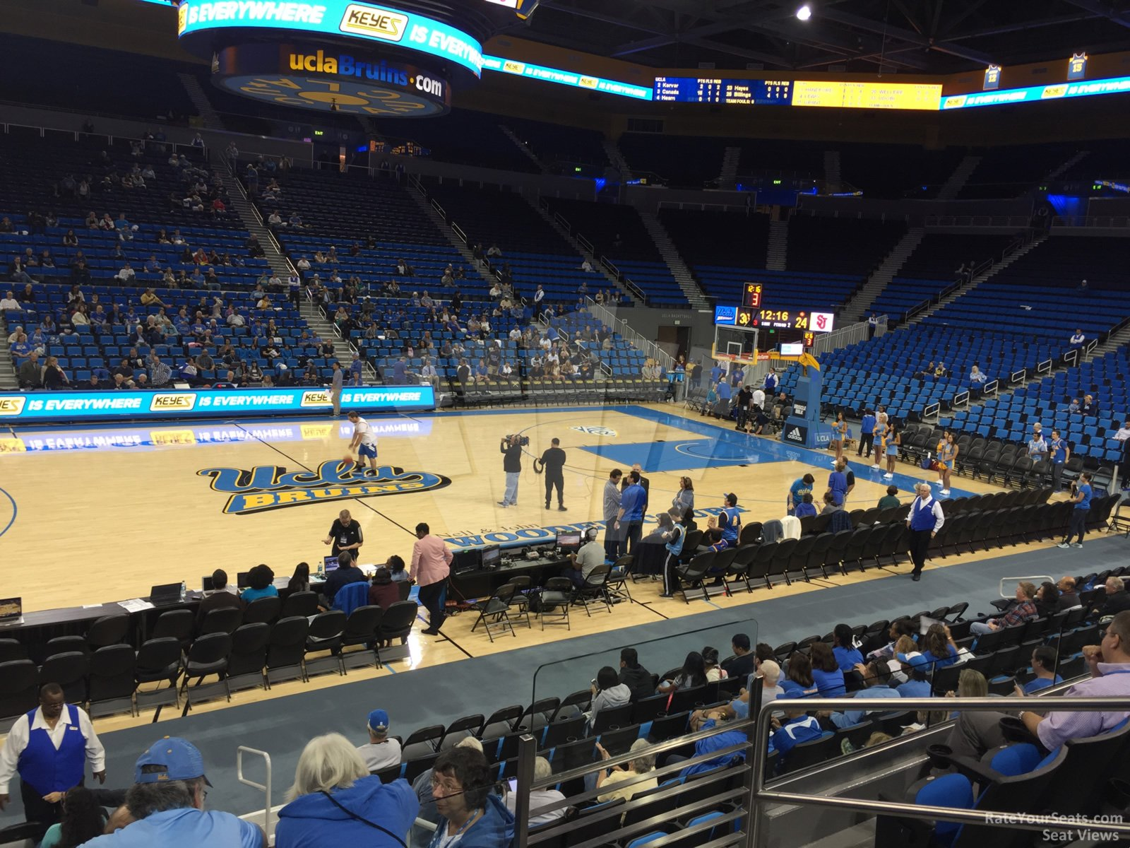Seat View for Pauley Pavilion Section 116, Row 3