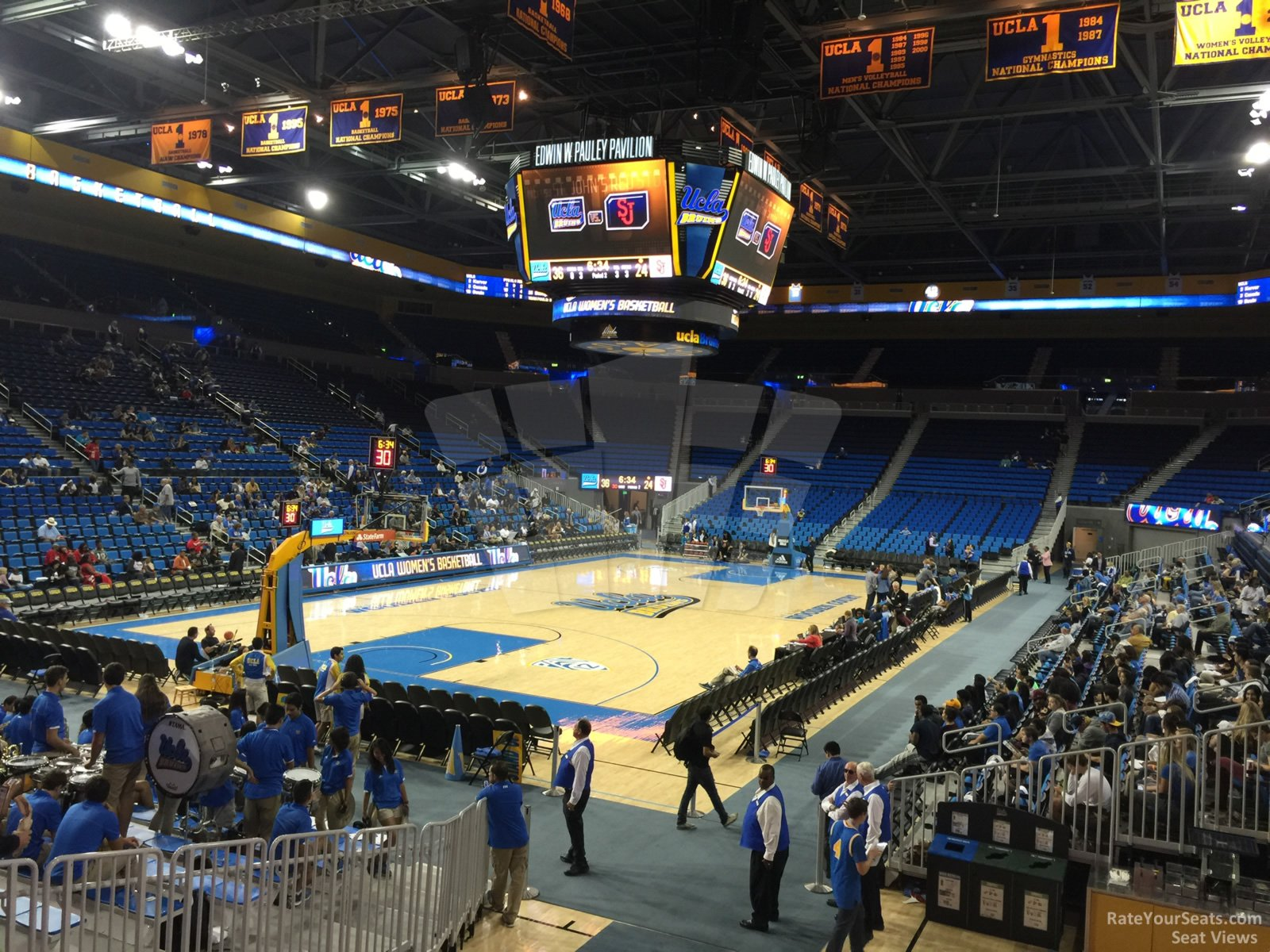 Seat View for Pauley Pavilion Section 120, Row 3