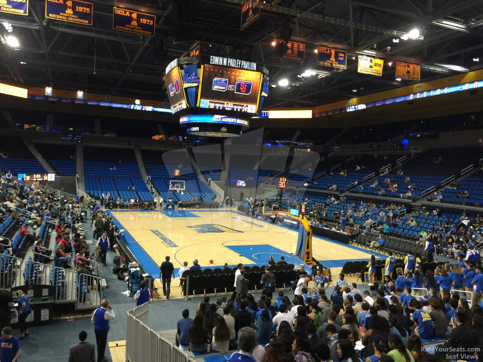 Seat View for Pauley Pavilion Section 123, Row 3