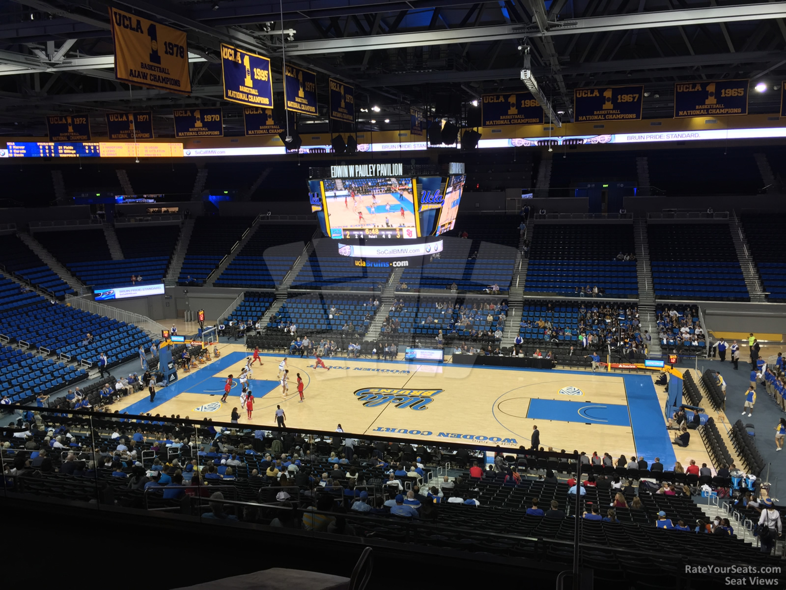 Seat View for Pauley Pavilion Section 201, Row 6