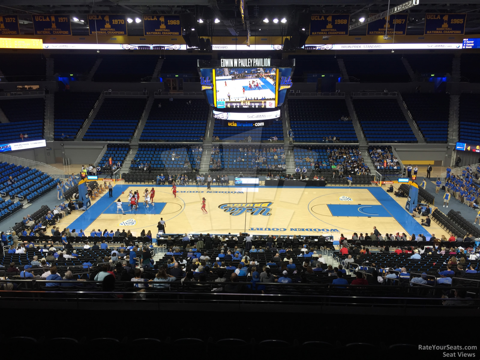 Seat View for Pauley Pavilion Section 202, Row 6