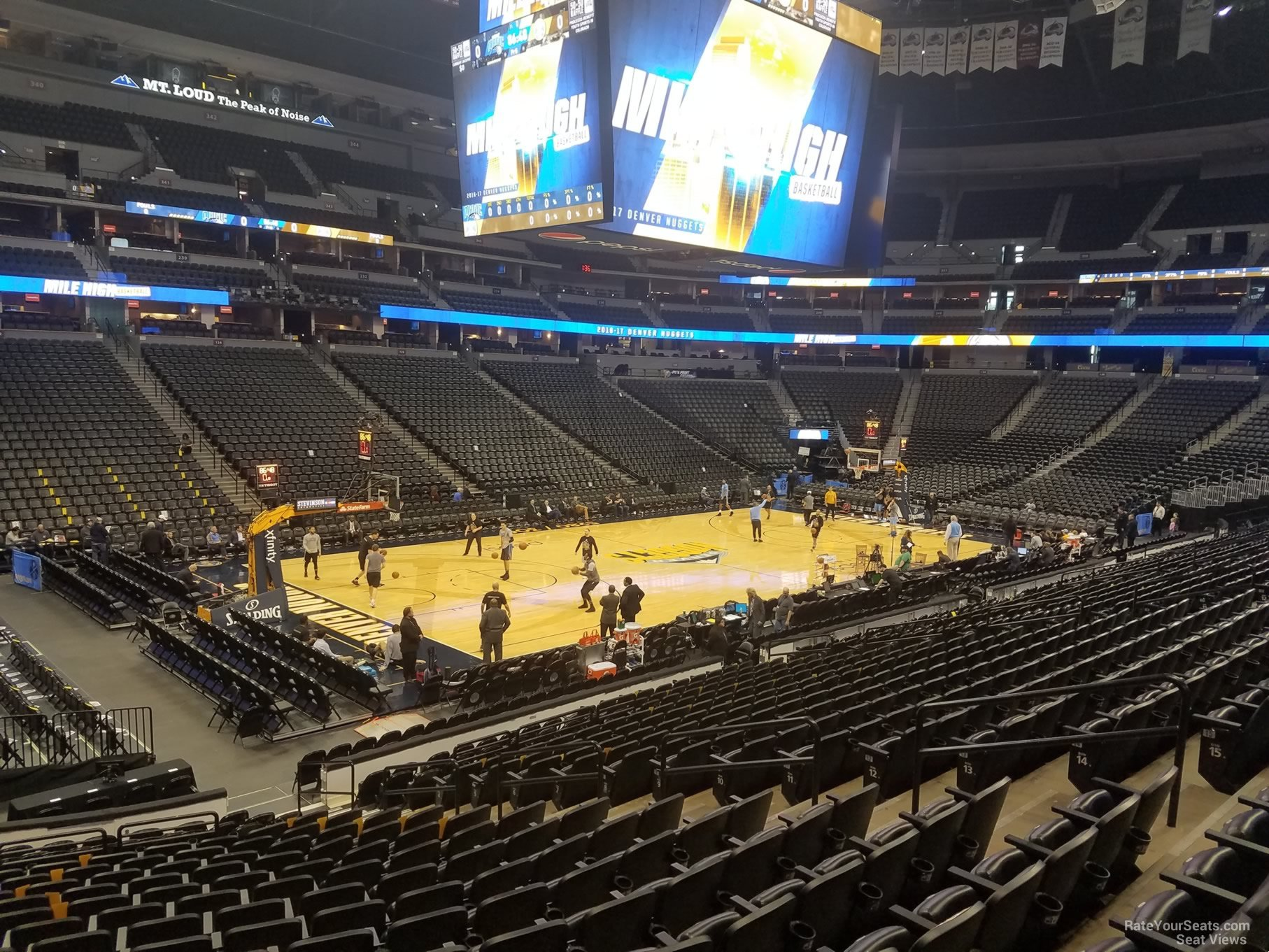 Denver Nuggets Seat View for Pepsi Center Section 106, Row 19