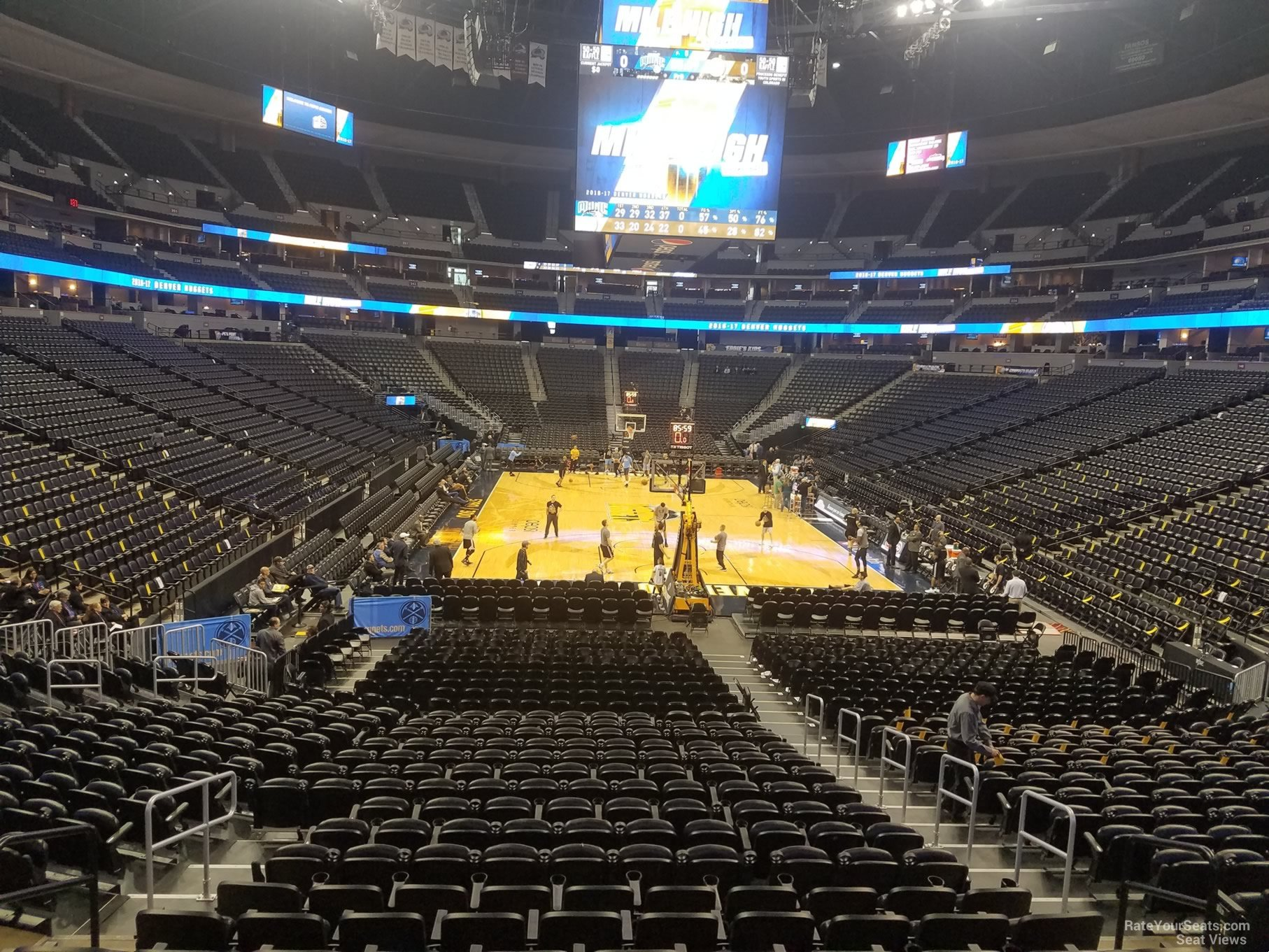 dd12c25be66 Denver Nuggets Seat View For Pepsi Center Section 114