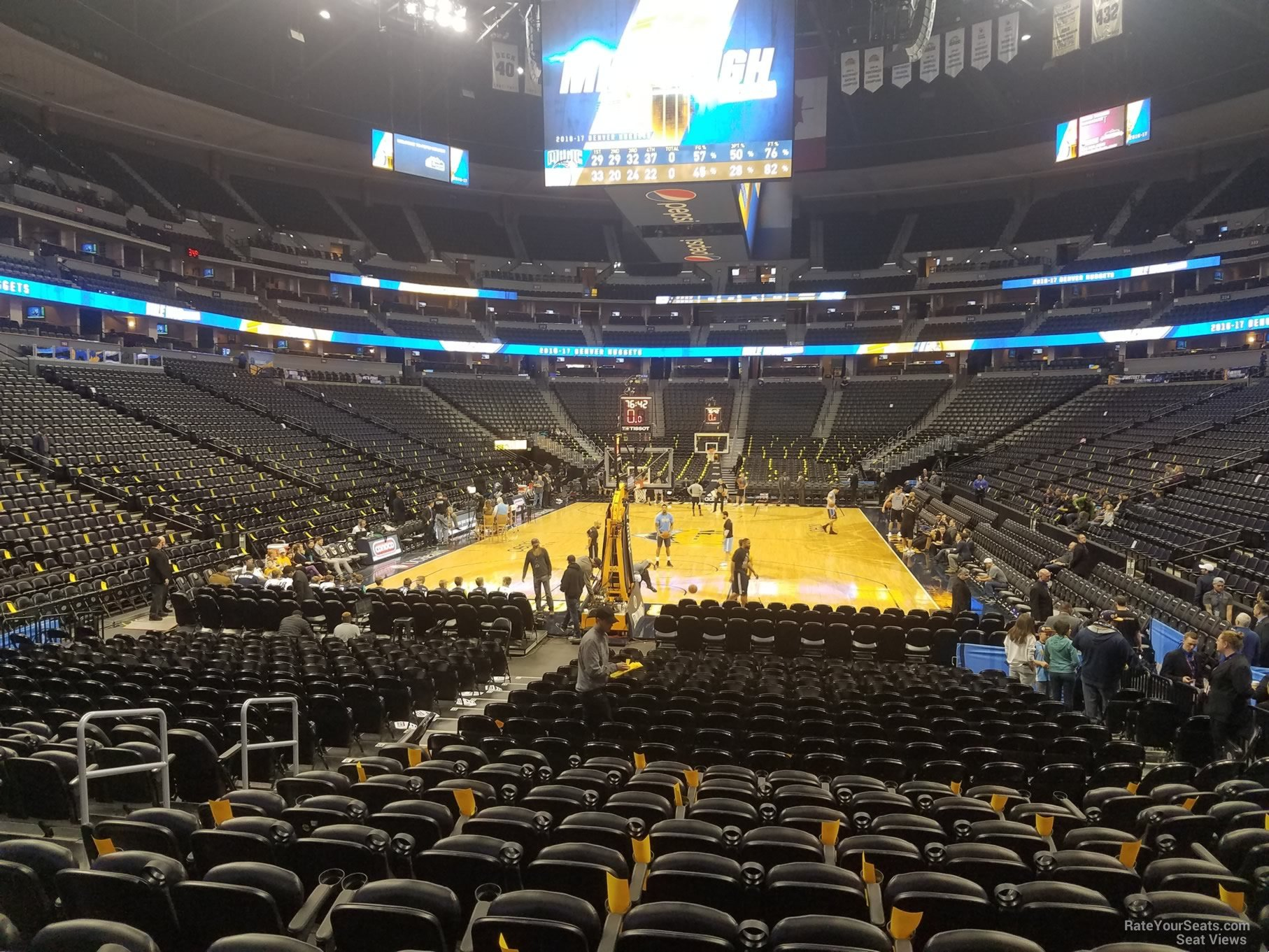 Denver Nuggets Seat View for Pepsi Center Section 136, Row 11