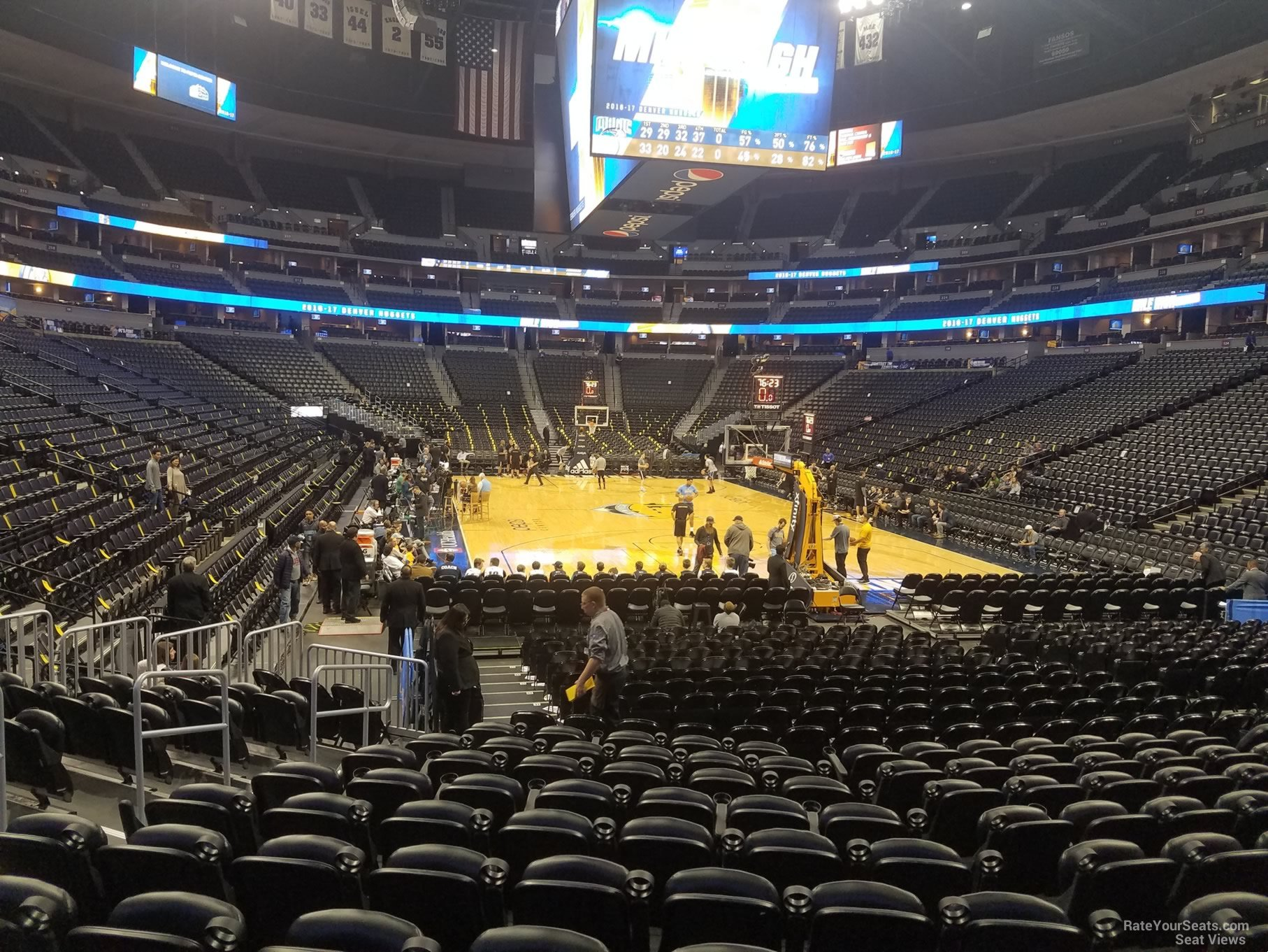Denver Nuggets Seat View For Pepsi Center Section 140