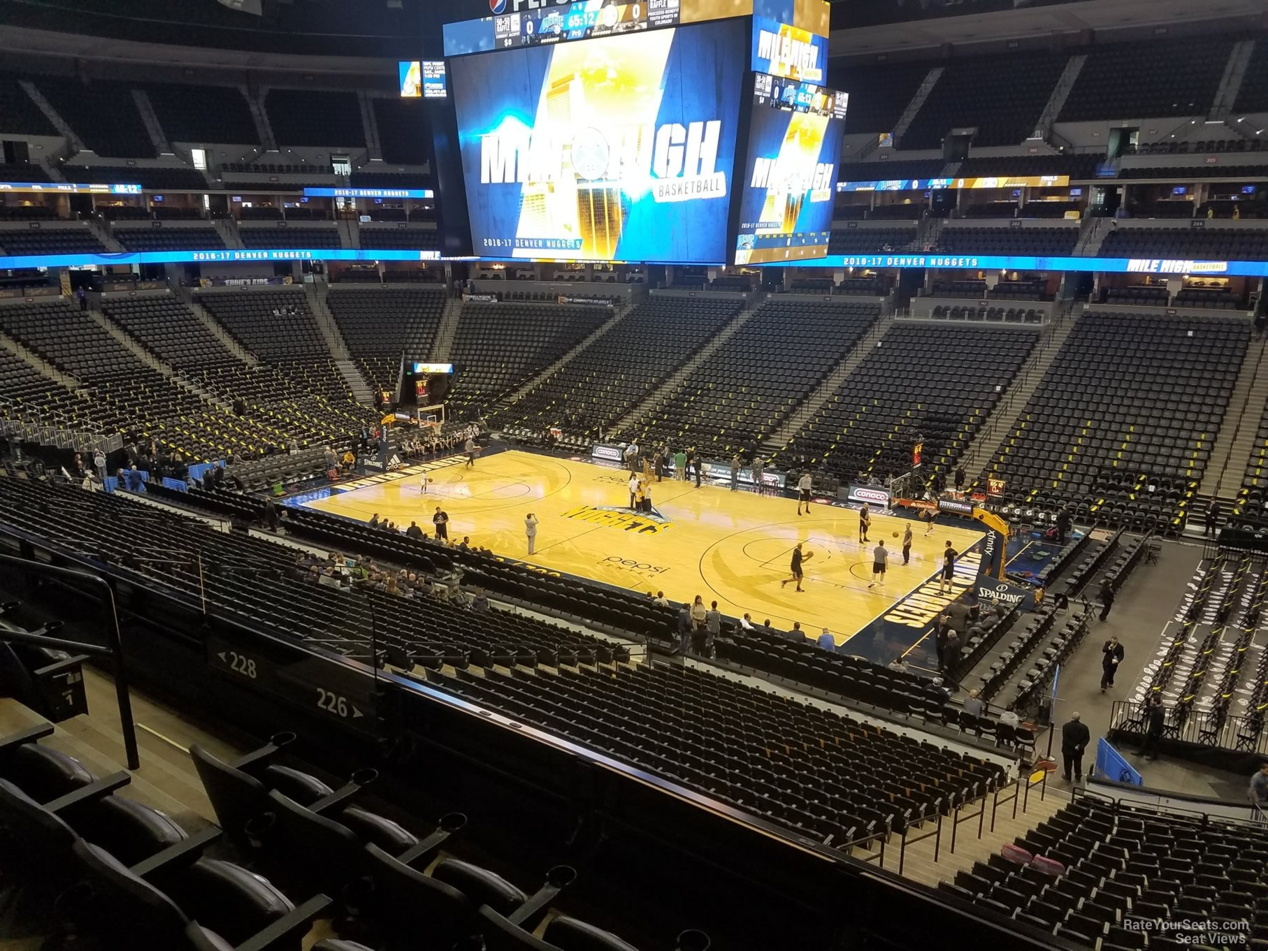 Land Rover Denver >> Pepsi Center Section 226 - Denver Nuggets - RateYourSeats.com