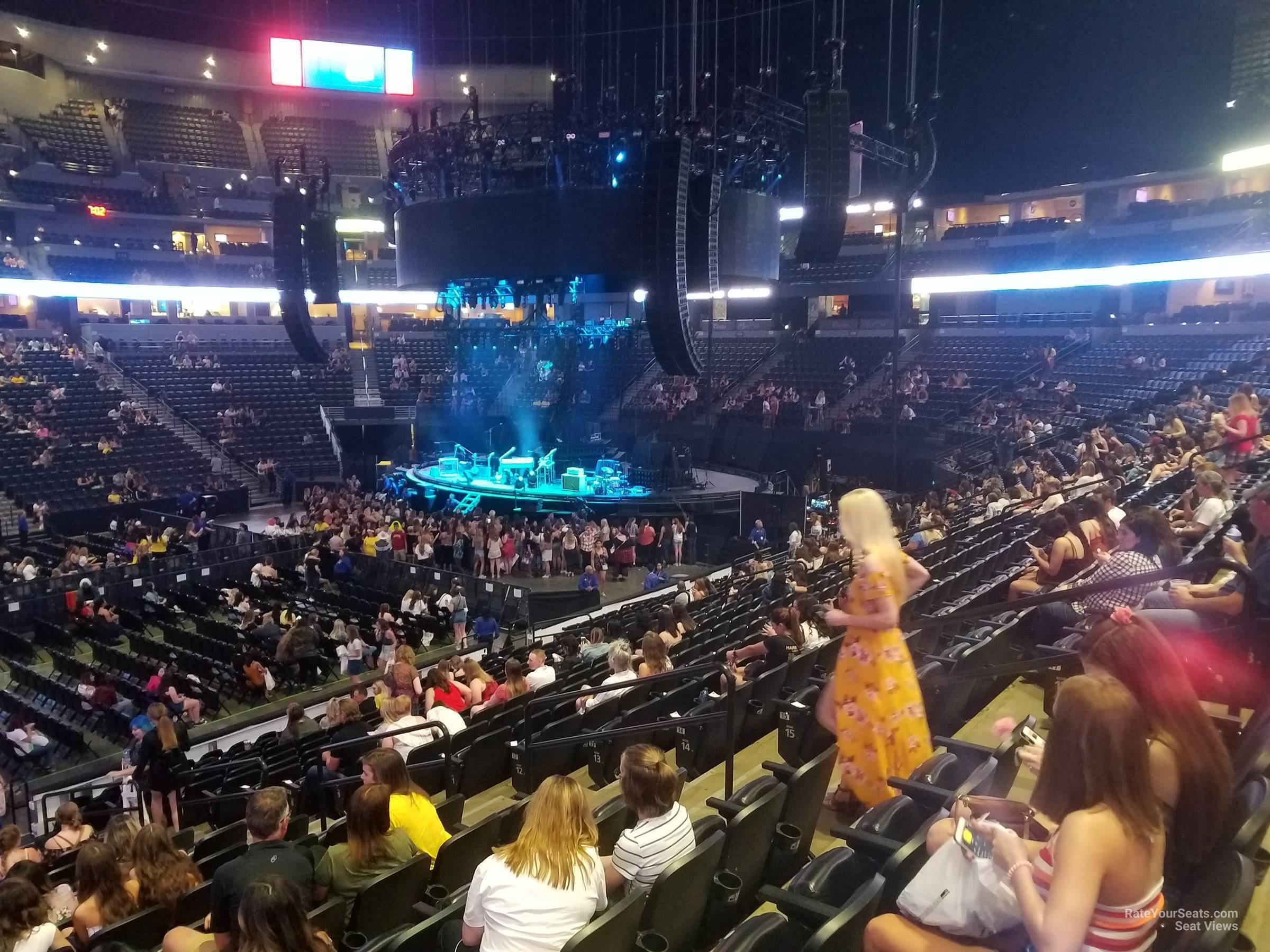 Concert Seat View for Ball Arena Section 102, Row 19